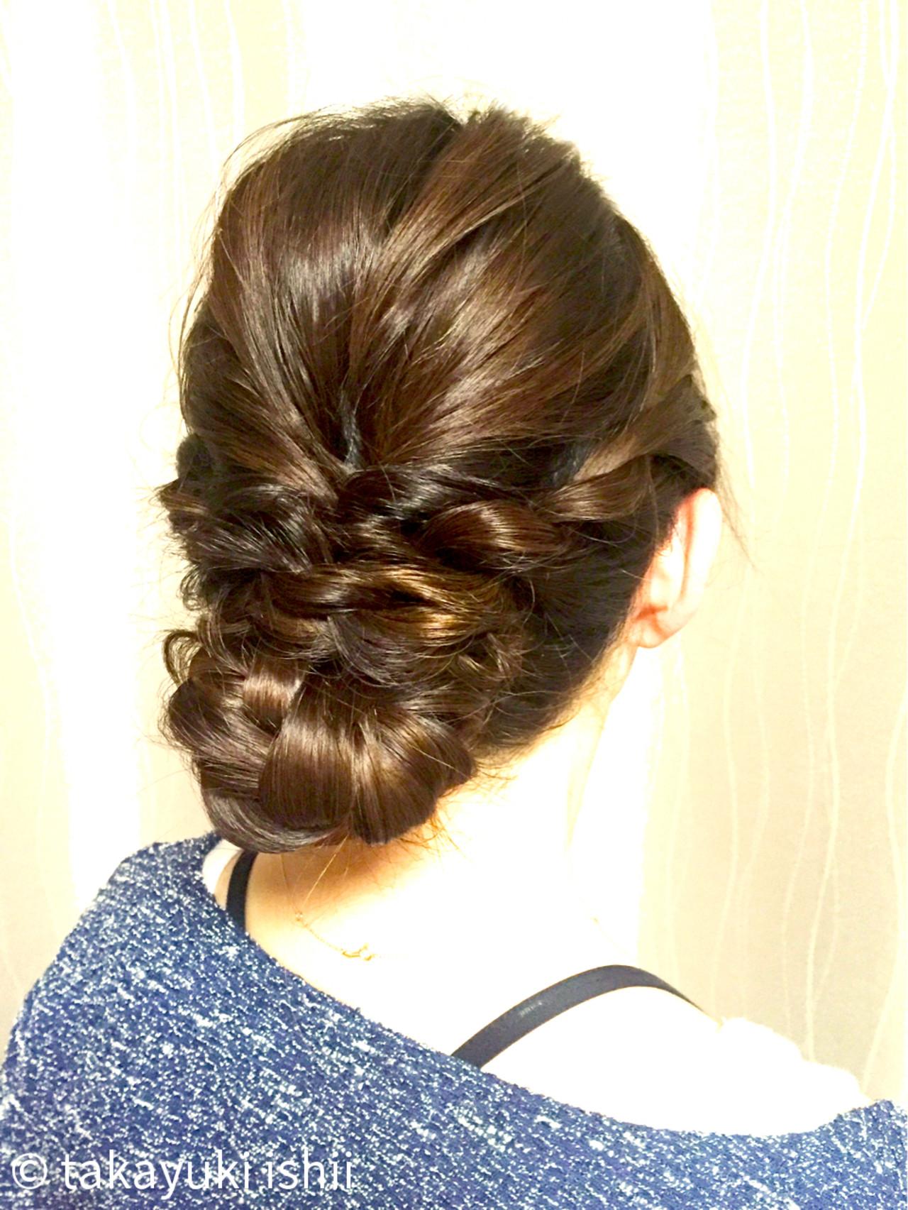 まとめ髪 ヘアアレンジ 編み込み 簡単 ヘアスタイルや髪型の写真・画像   takayuki ishii / M.SLASH FIEL