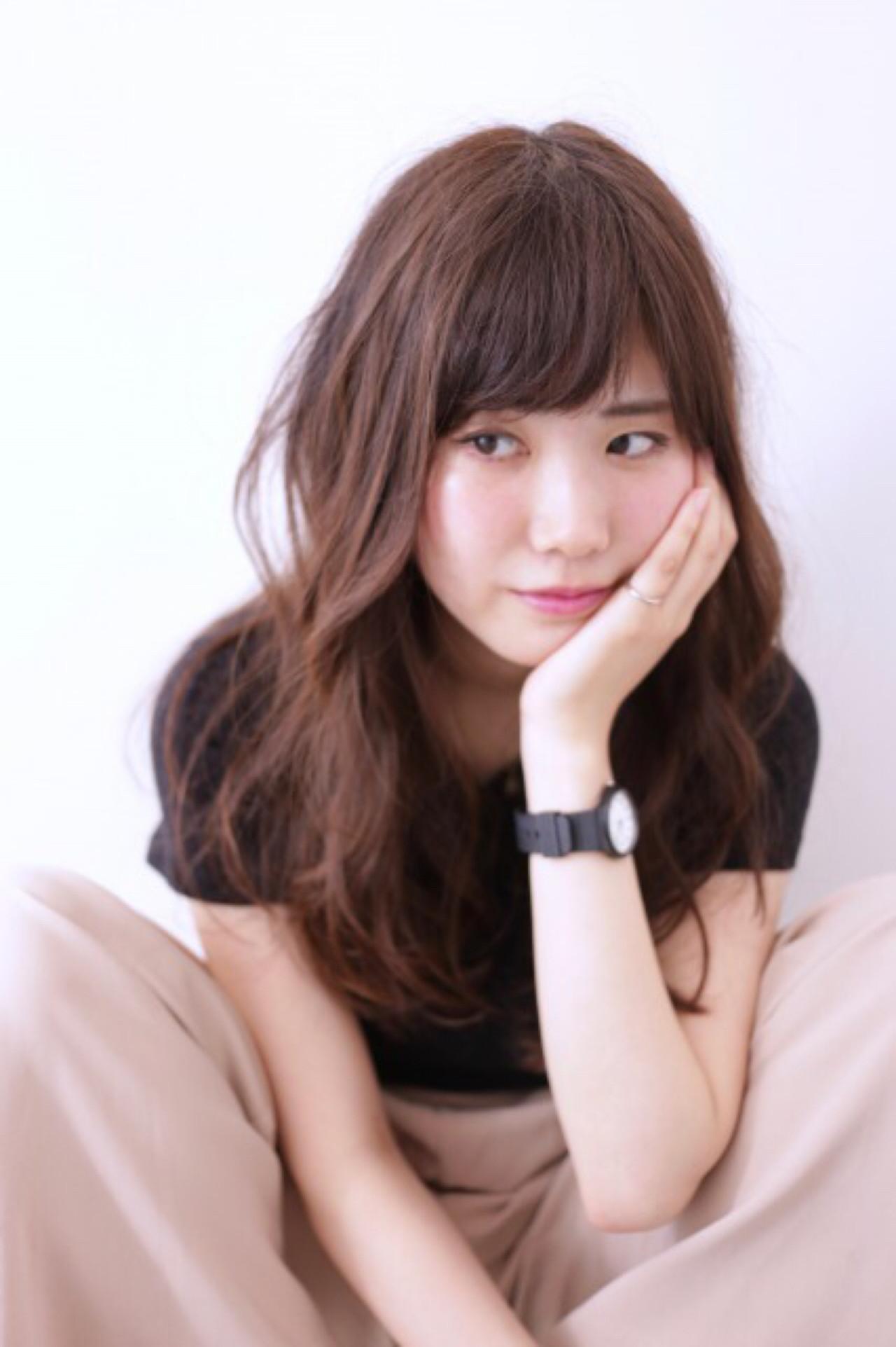 ナチュラル かわいい 無造作 フェミニン ヘアスタイルや髪型の写真・画像 | orso hair kuma / orso hair