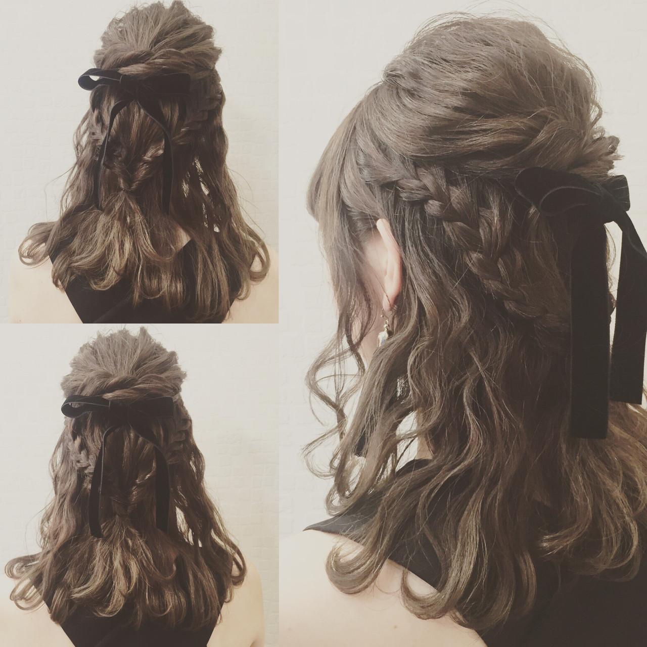 ガーリー フェミニン ゆるふわ ヘアアレンジ ヘアスタイルや髪型の写真・画像