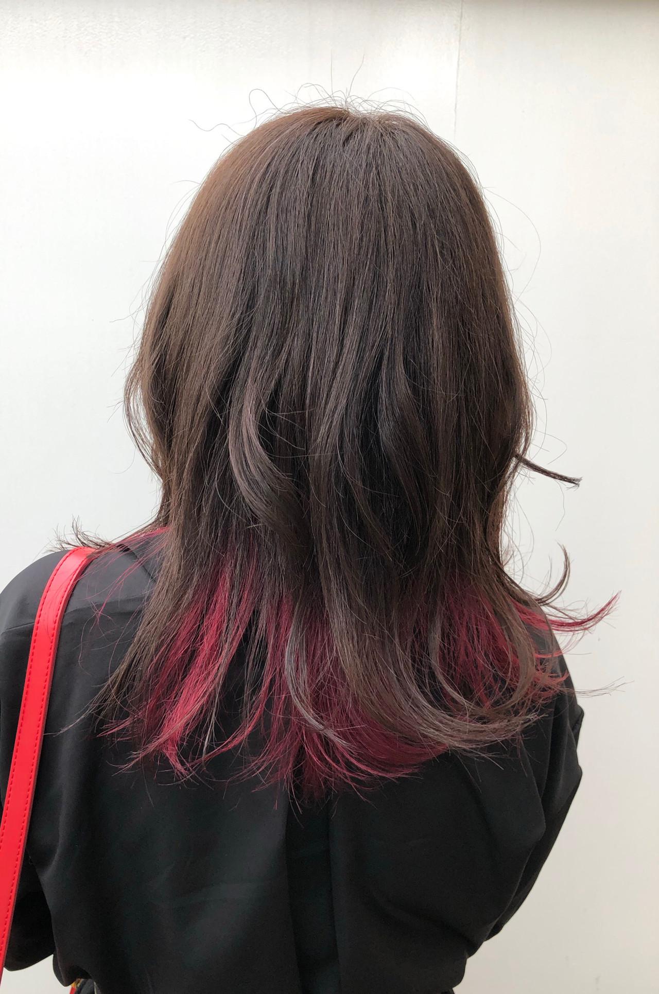 スポーツ ベリーピンク グラデーションカラー インナーカラー ヘアスタイルや髪型の写真・画像 | 出塩 浩之 / MORIO FROM LONDON さいたま新都心