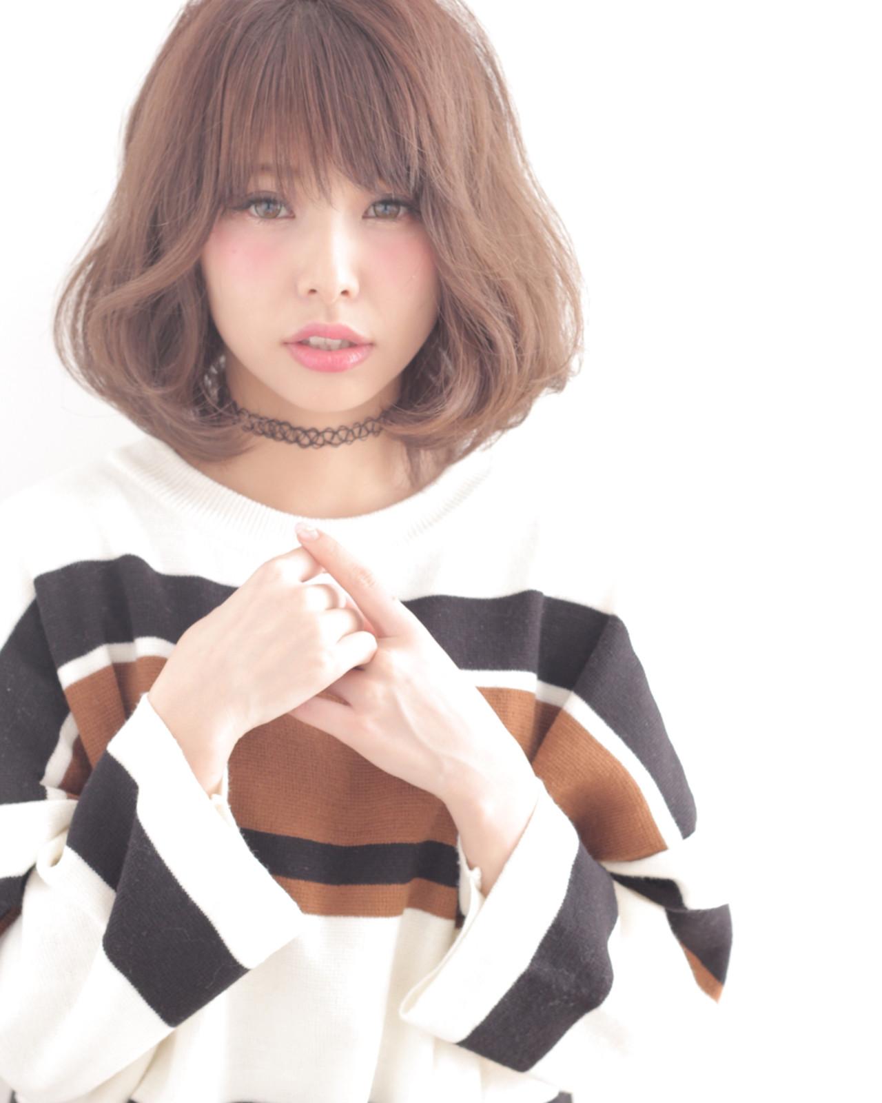 前髪あり パーマ 外国人風 ゆるふわ ヘアスタイルや髪型の写真・画像 | 石田 学史 / DISHEL