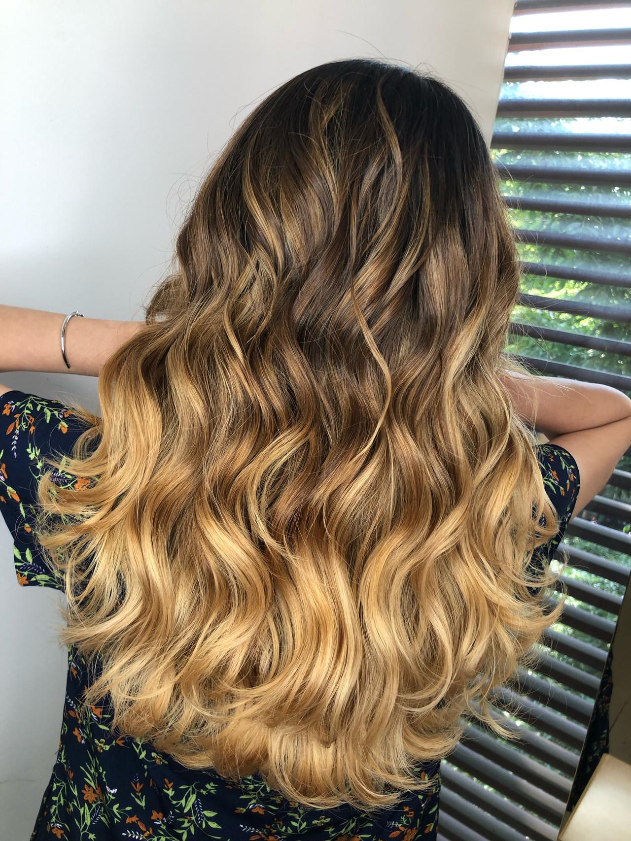 ハイライト 外国人風カラー ヘアアレンジ ロング ヘアスタイルや髪型の写真・画像