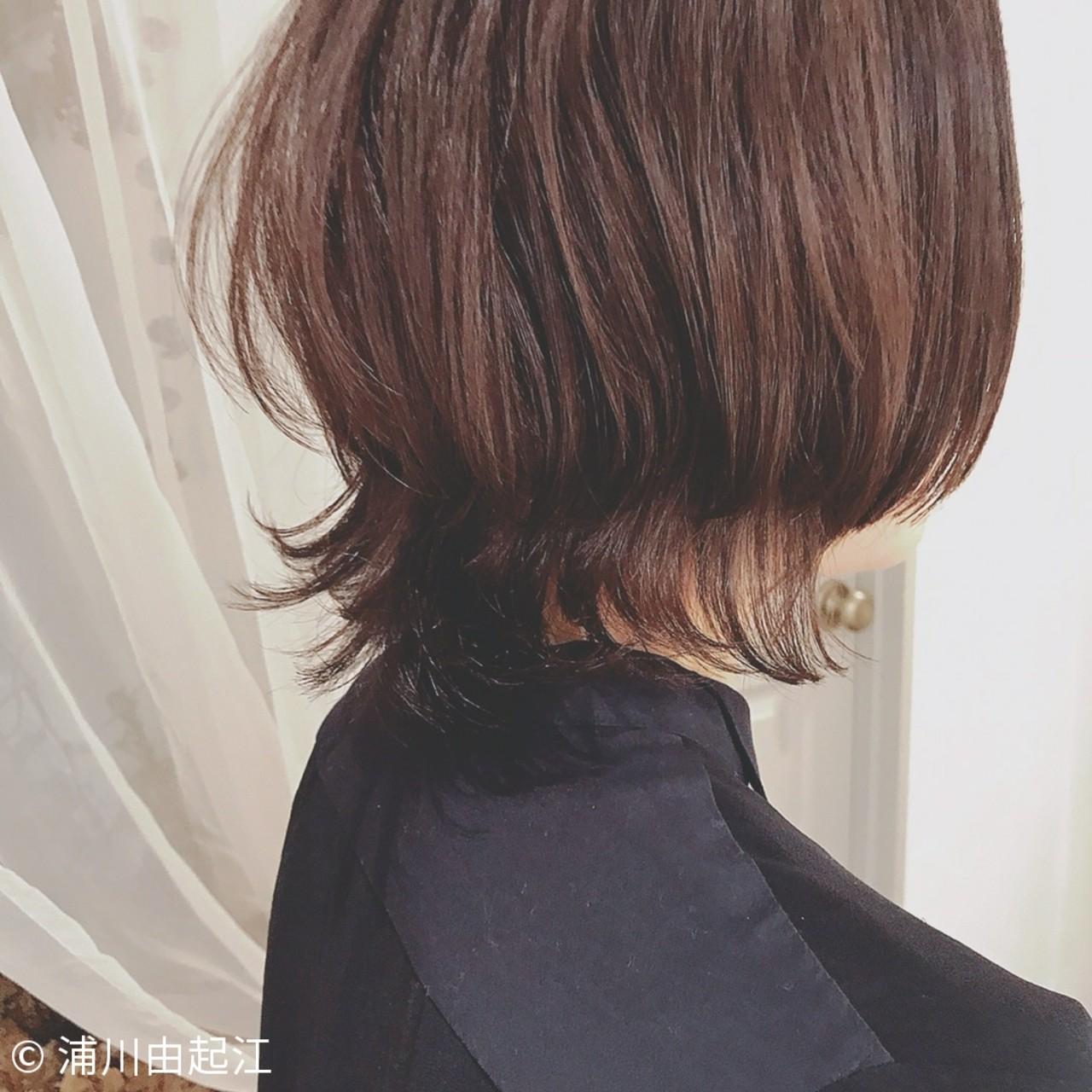 ゆるふわ オフィス フェミニン デート ヘアスタイルや髪型の写真・画像 | 浦川由起江 / nanon