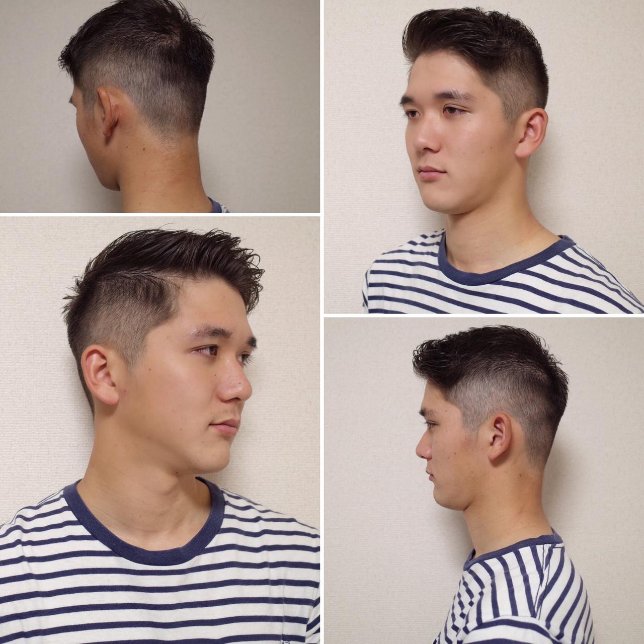 ショート メンズショート ツーブロック メンズヘア ヘアスタイルや髪型の写真・画像   刈り上げ・2ブロック専門美容師 ヤマモトカズヒコ / MEN'S GROOMING SALON AOYAMA by kakimoto arms