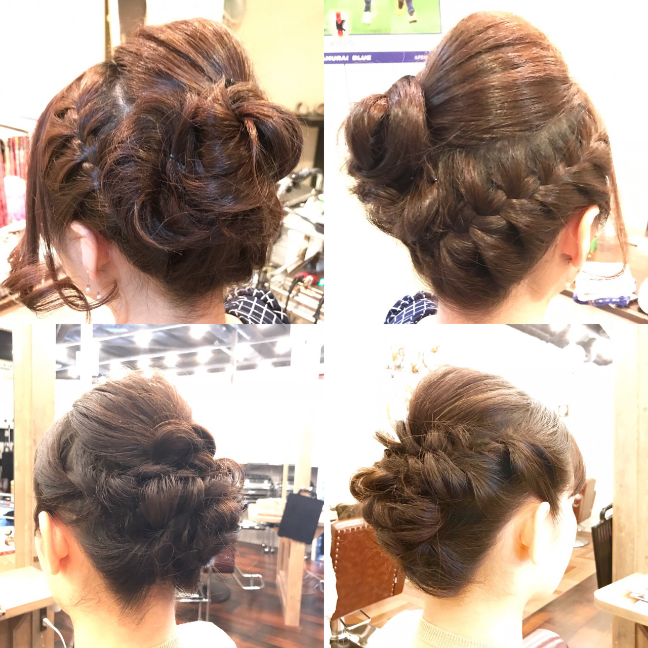 エレガント 編み込み まとめ髪 ヘアアレンジ ヘアスタイルや髪型の写真・画像