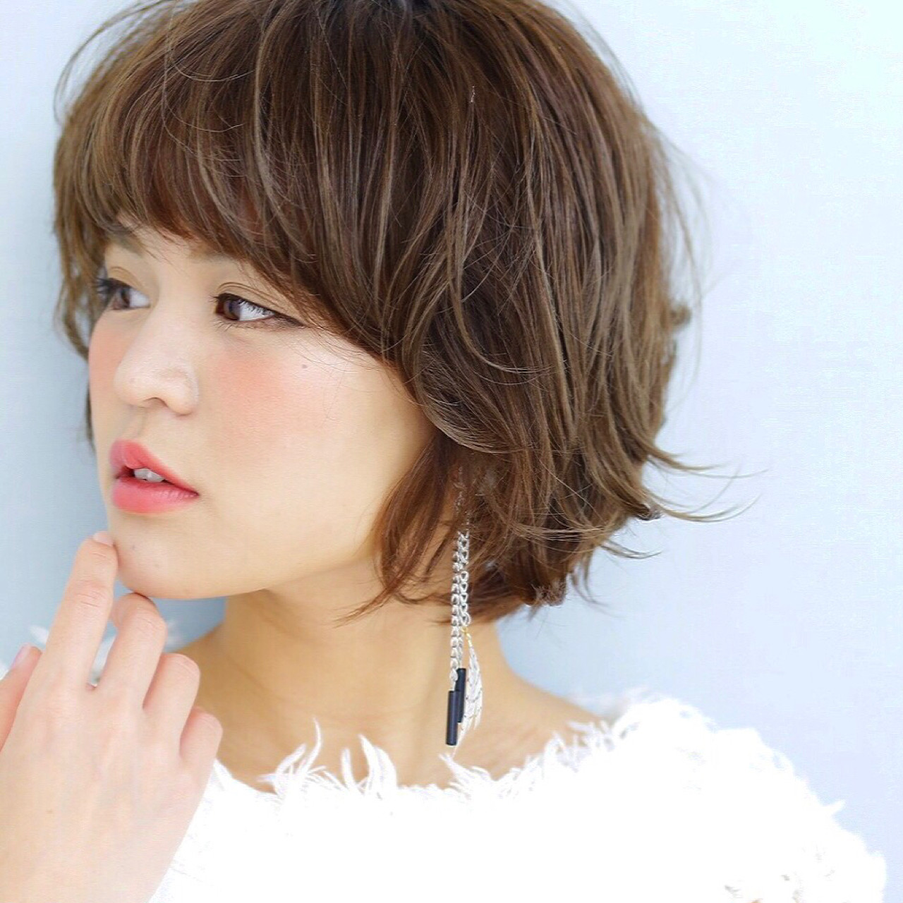 ショート パーマ 外国人風 ボブ ヘアスタイルや髪型の写真・画像 | 竹村 春香 / 自由が丘 Hair Salon pele