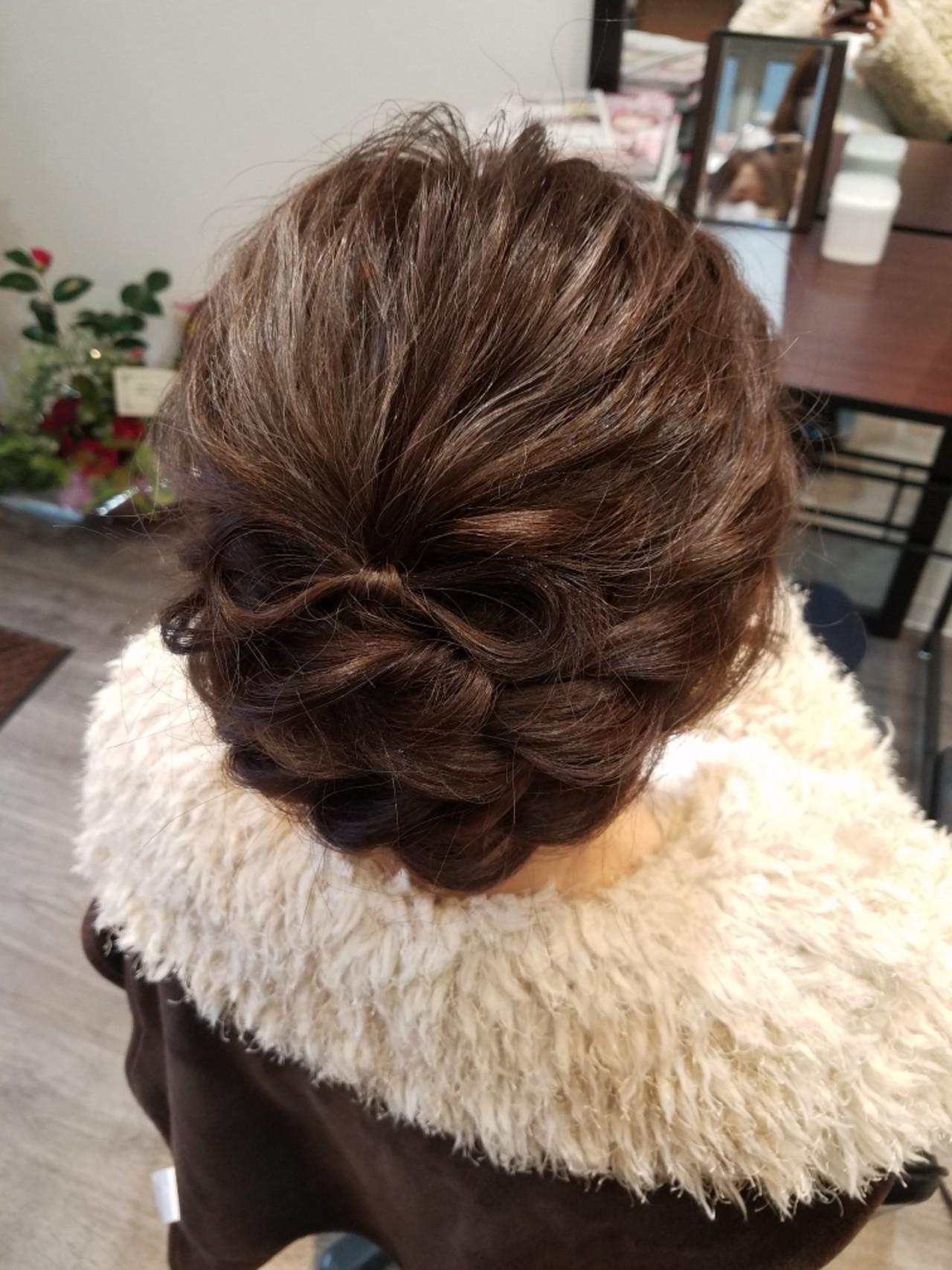 フェミニン ミディアム ヘアスタイルや髪型の写真・画像 | mai / HAIR SALON STELLA
