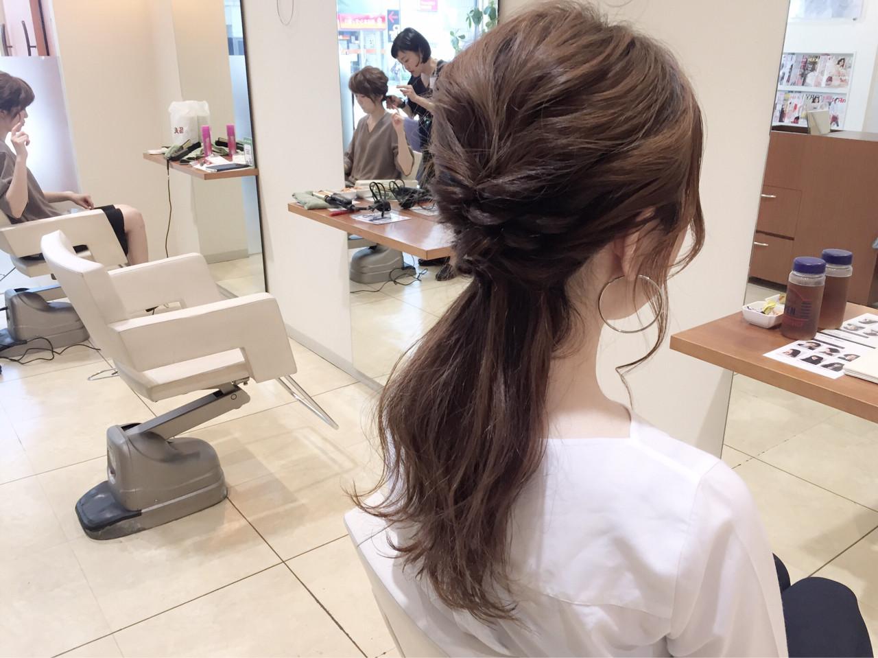 ヘアアレンジ ハーフアップ ショート 大人女子 ヘアスタイルや髪型の写真・画像
