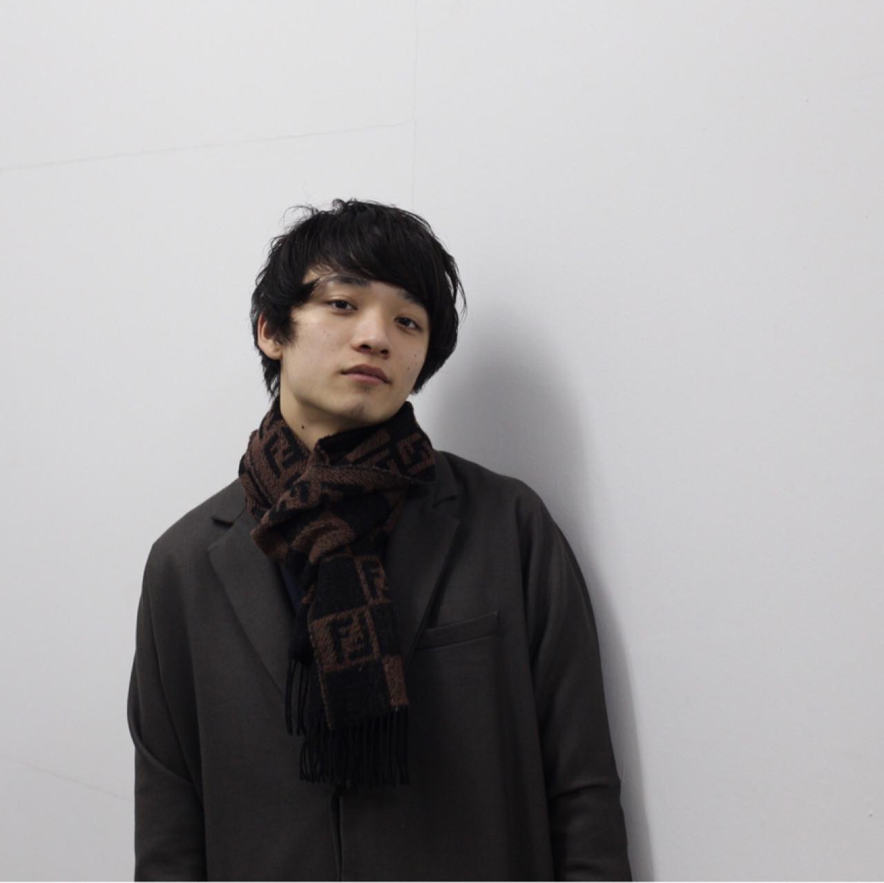 黒髪 ボーイッシュ メンズ ナチュラル ヘアスタイルや髪型の写真・画像