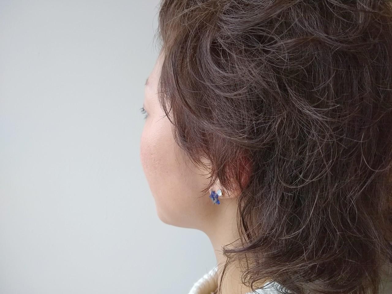 モード ウルフカット ショート グレージュ ヘアスタイルや髪型の写真・画像