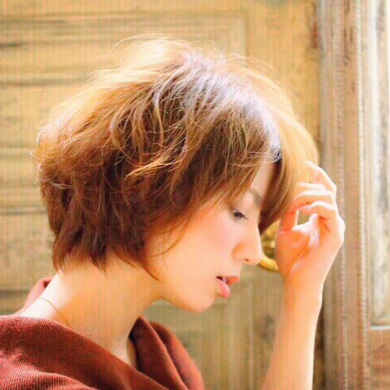 ナチュラル ショート 外国人風 ウェーブ ヘアスタイルや髪型の写真・画像 | 小宮山彩花 / ibrel(イリル)自由が丘