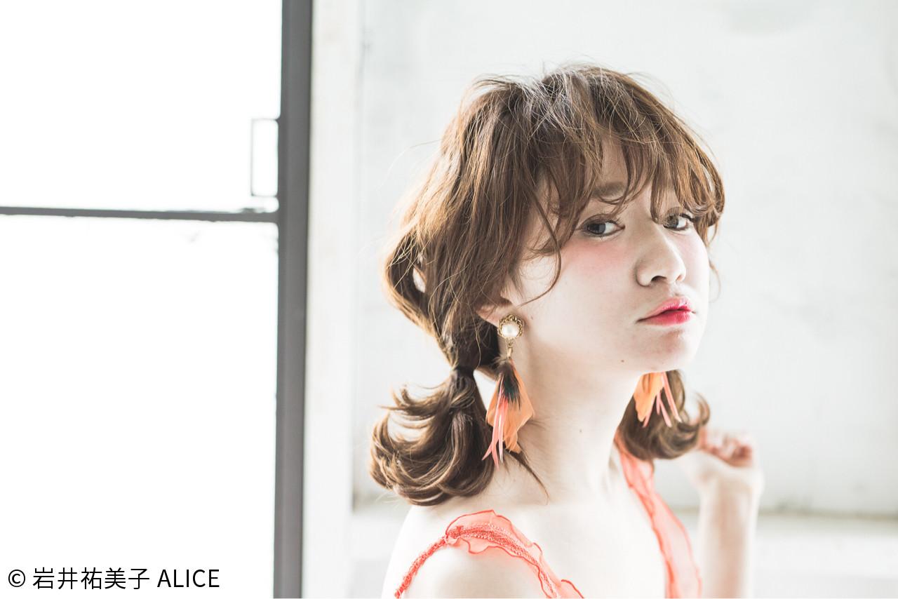 ガーリー 夏 ヘアアレンジ ショート ヘアスタイルや髪型の写真・画像 | 岩井祐美子 ALICE / Alice