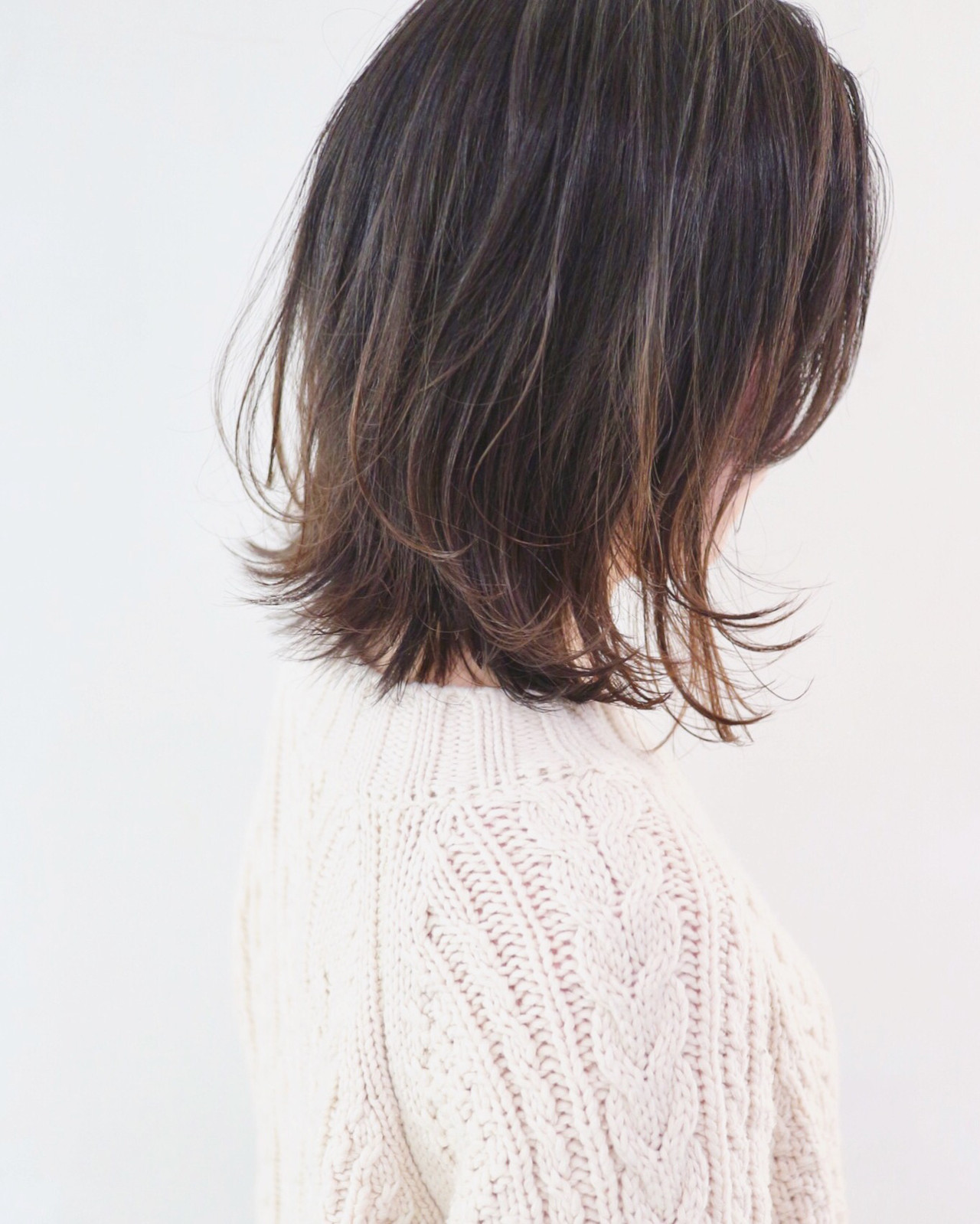 アンニュイほつれヘア フェミニン レイヤーカット ボブ ヘアスタイルや髪型の写真・画像