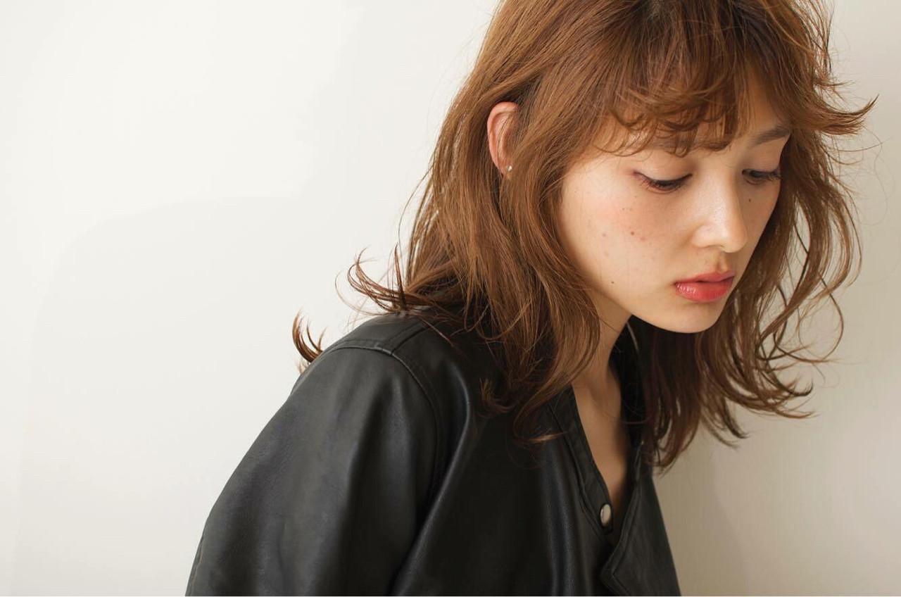 前髪あり 外国人風 アッシュ うざバング ヘアスタイルや髪型の写真・画像