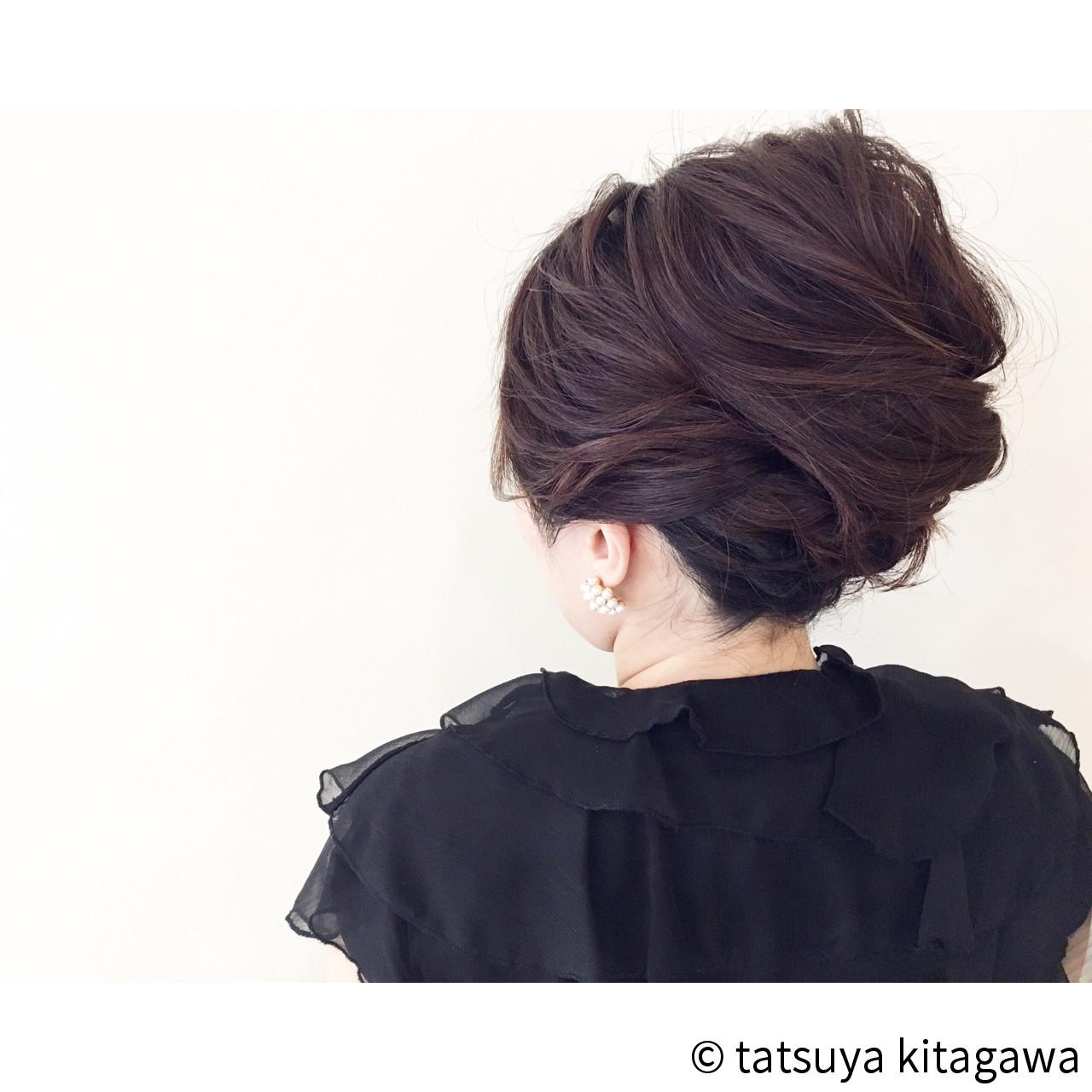 結婚式 アップスタイル 上品 ヘアアレンジ ヘアスタイルや髪型の写真・画像