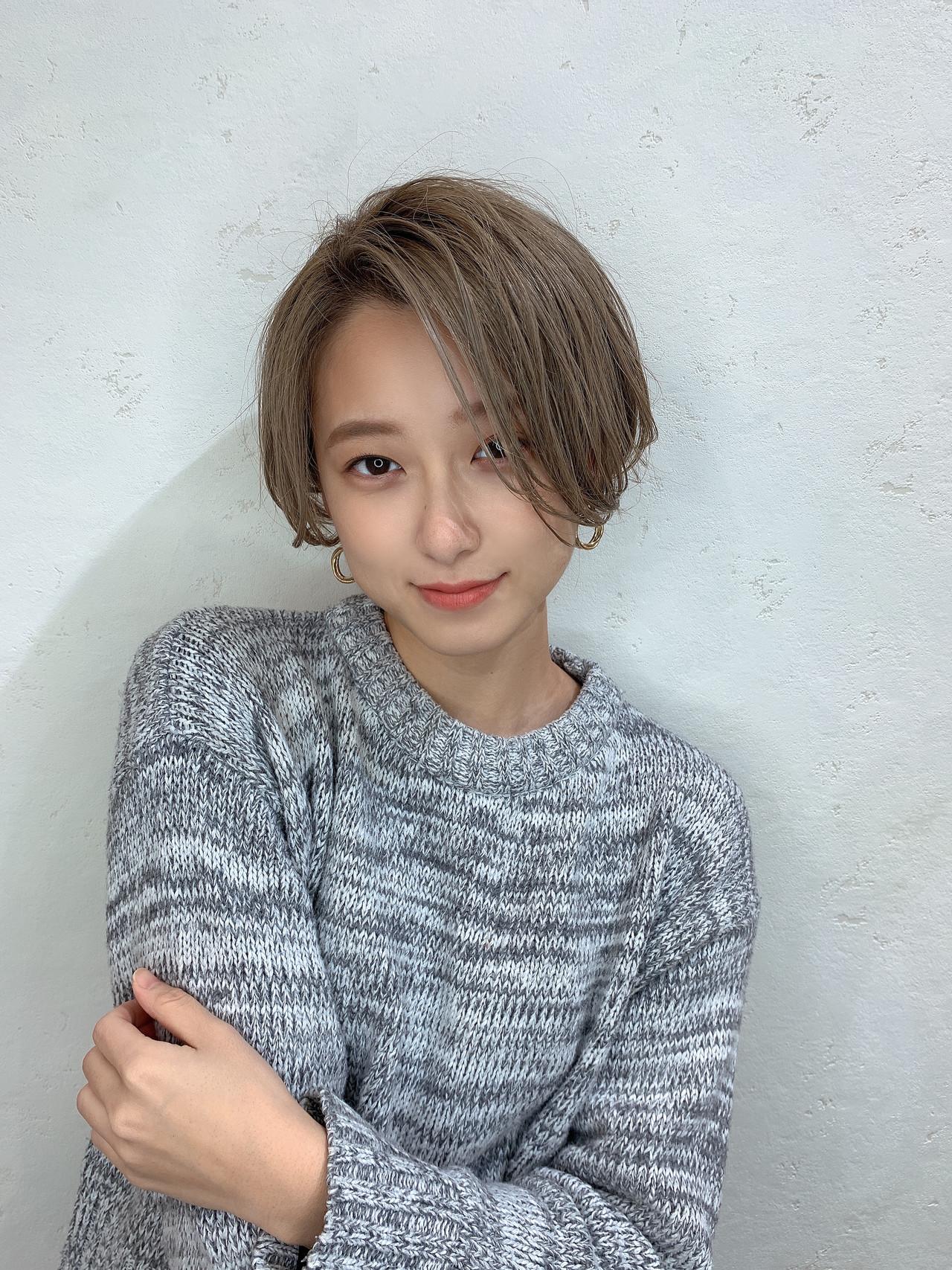 ナチュラル 小顔ヘア 可愛い ハンサムショート ヘアスタイルや髪型の写真・画像 | 山口 健太 / Lond ange