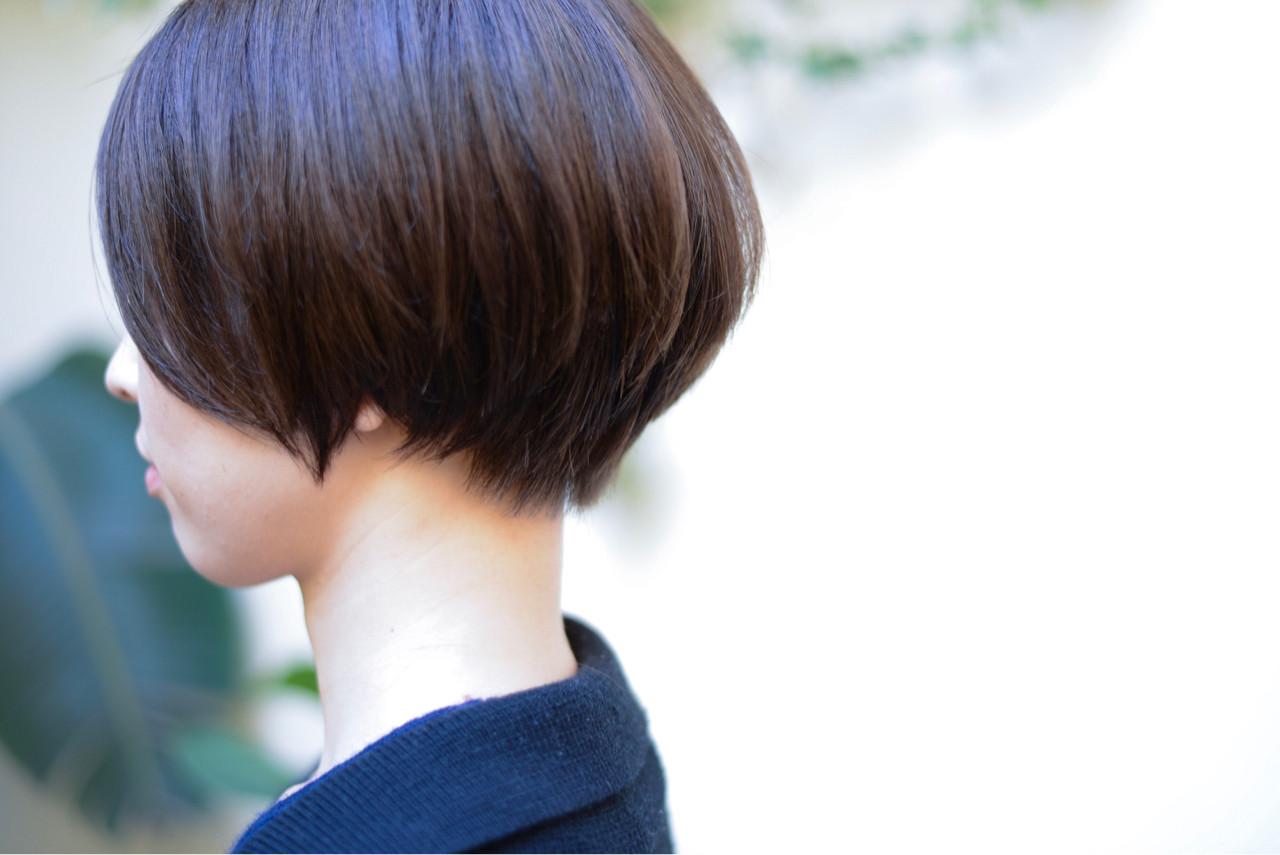 色気 小顔 ボブ ショートボブ ヘアスタイルや髪型の写真・画像   矢沢和也 / MAKE'S
