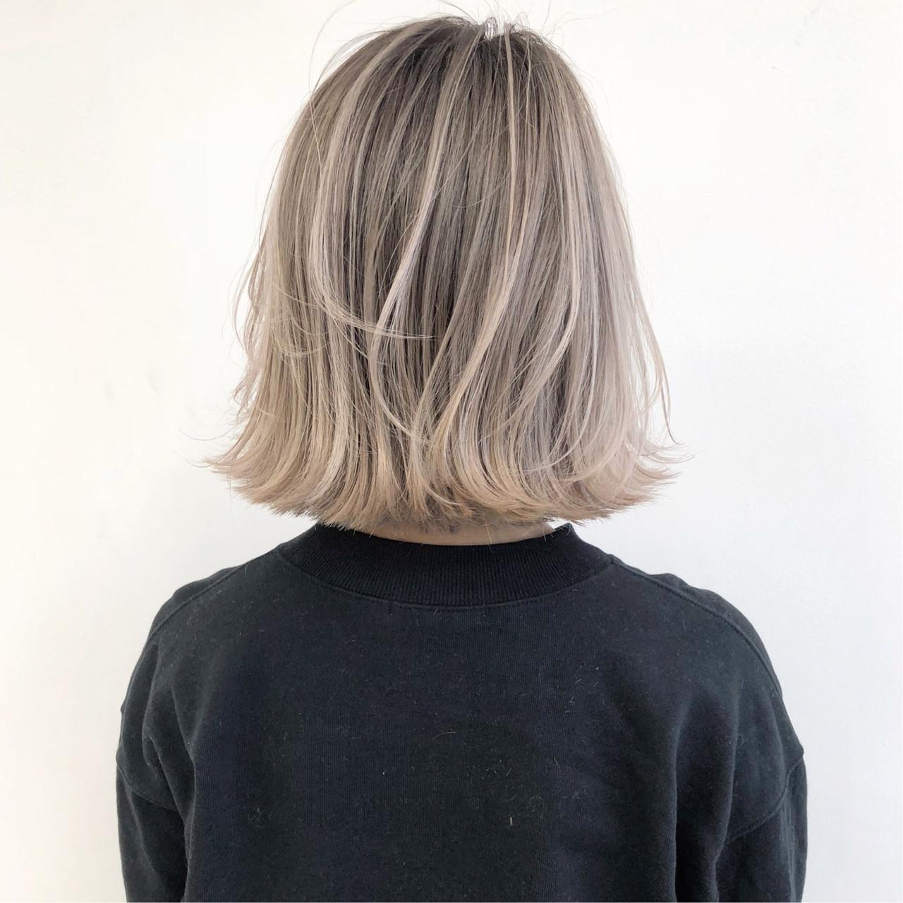 バレイヤージュ ボブ ショートヘア ストリート ヘアスタイルや髪型の写真・画像 | ALT 森田 正浩 / ALT