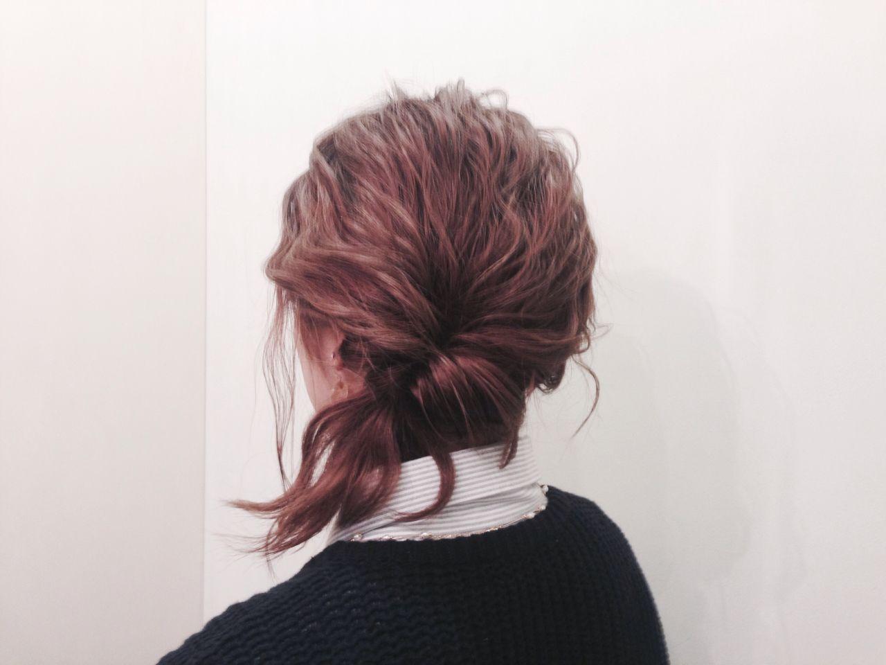 ナチュラル ショート くるりんぱ 簡単ヘアアレンジ ヘアスタイルや髪型の写真・画像 | yuuta inoue/vicca 'ekolu / vicca 'ekolu