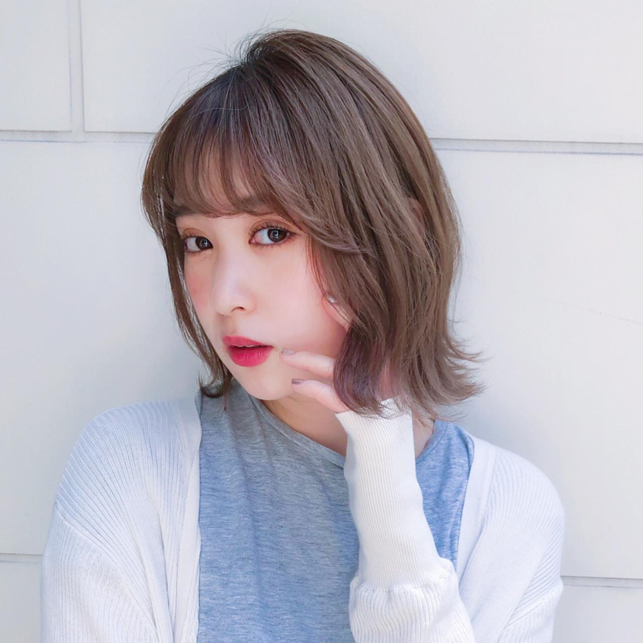 デート フェミニン レイヤー モテボブ ヘアスタイルや髪型の写真・画像   趙 英来 (よん) / nex