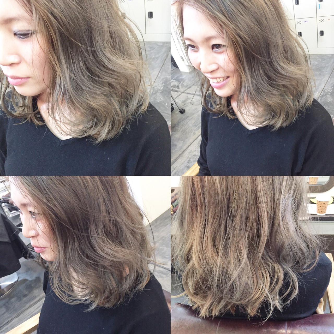 ハイライト グラデーションカラー ヌーディベージュ 外国人風 ヘアスタイルや髪型の写真・画像 | 田渕 英和/vicushair / vicushair