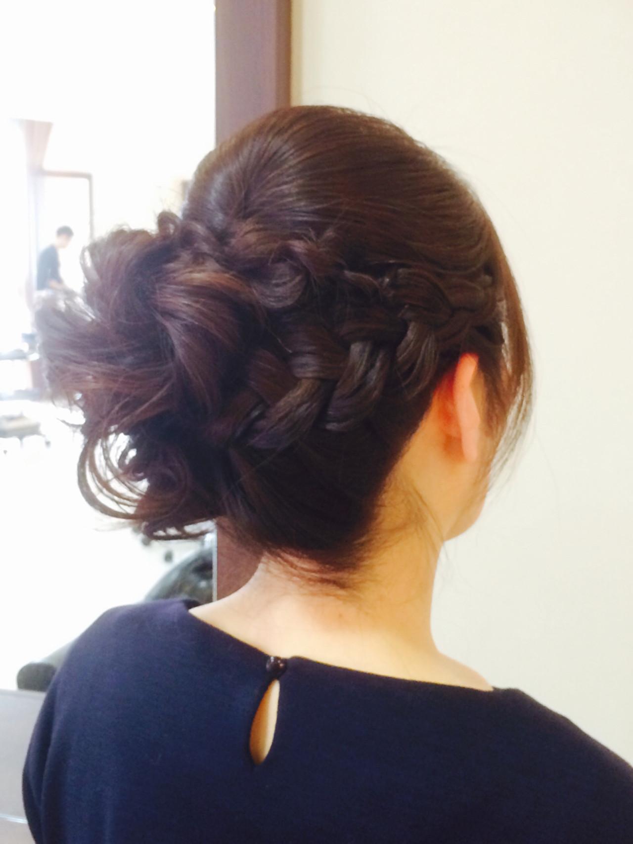 ヘアアレンジ 簡単ヘアアレンジ 編み込み 大人かわいい ヘアスタイルや髪型の写真・画像