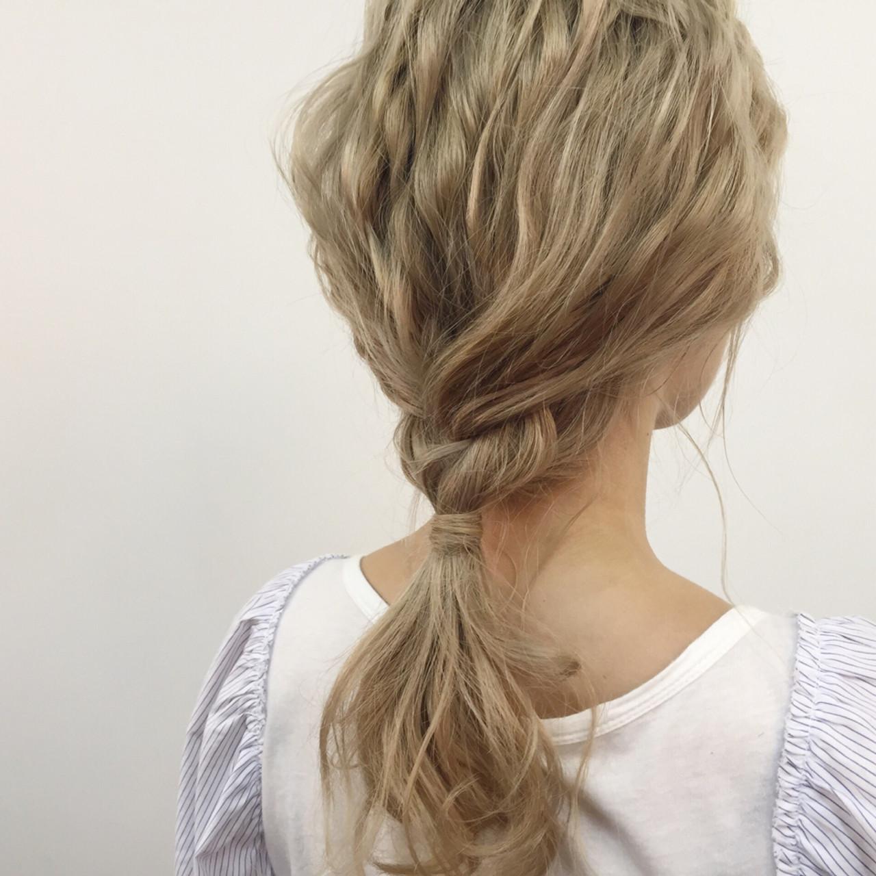 ブリーチ ルーズ セミロング ヘアアレンジ ヘアスタイルや髪型の写真・画像