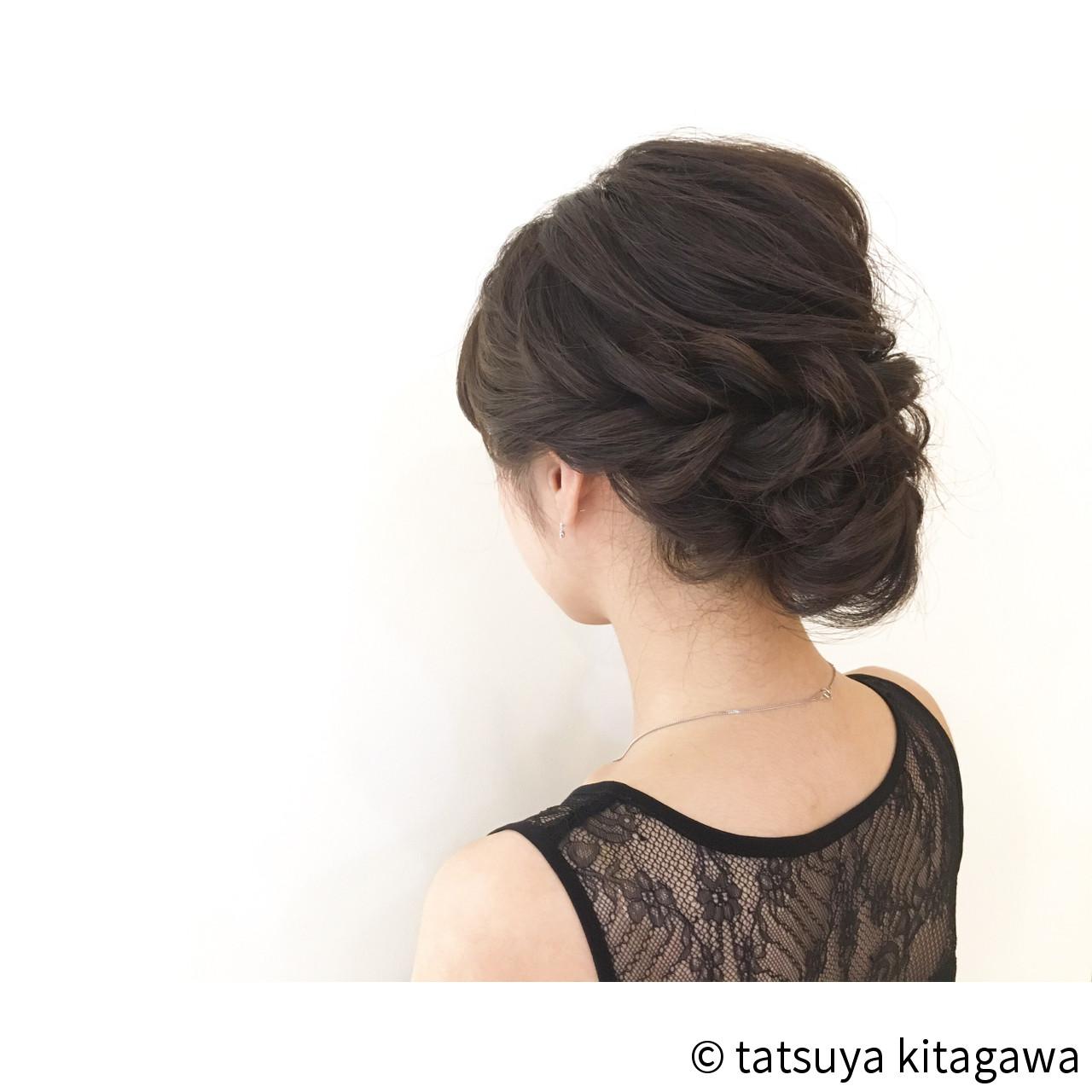 ゆるふわ 結婚式 セミロング 外国人風 ヘアスタイルや髪型の写真・画像