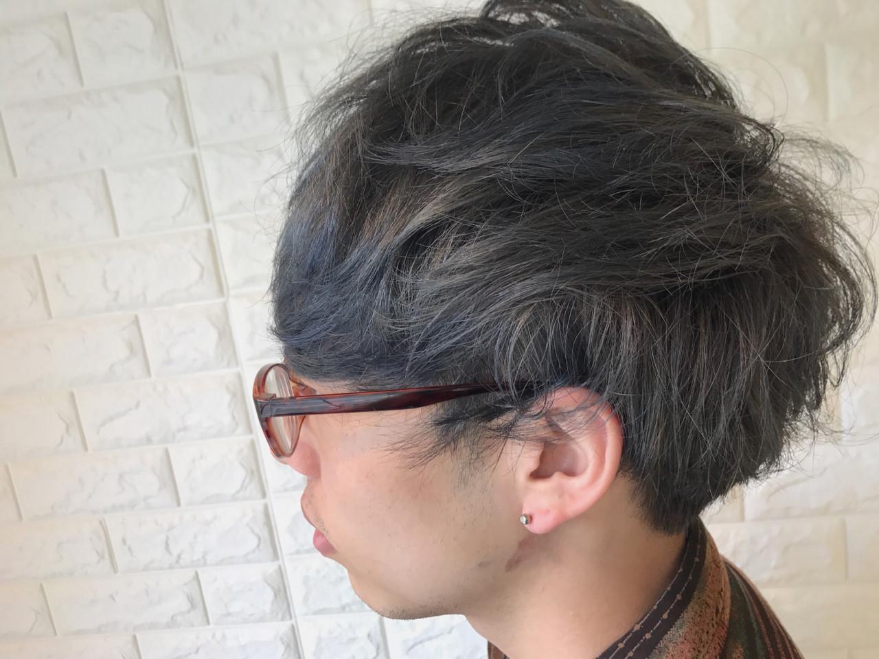 ナチュラル パーマ メンズ ショート ヘアスタイルや髪型の写真・画像 | 生田 拓海 / room kitahama