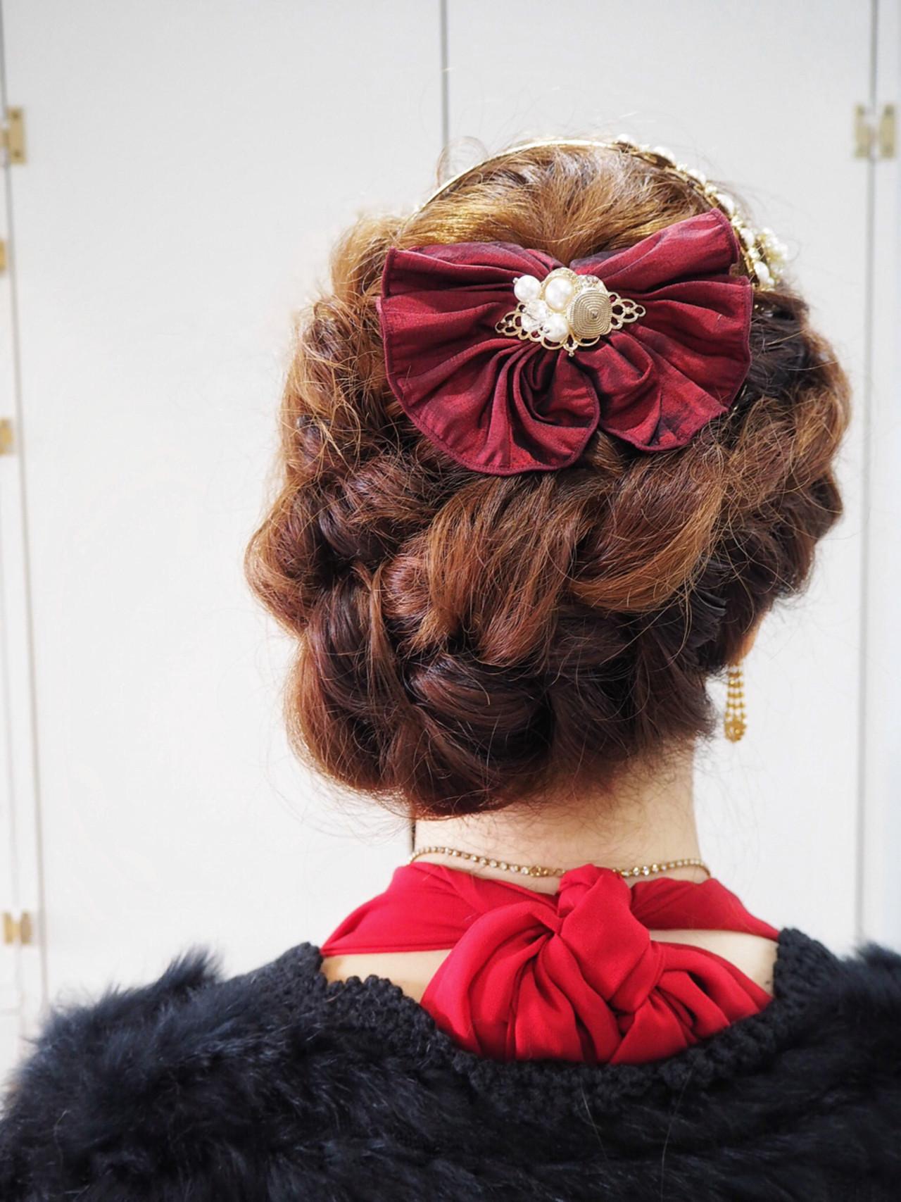 ロング 編み込み 三つ編み 簡単ヘアアレンジ ヘアスタイルや髪型の写真・画像   吉田 諭史 / Karachi-no-mai