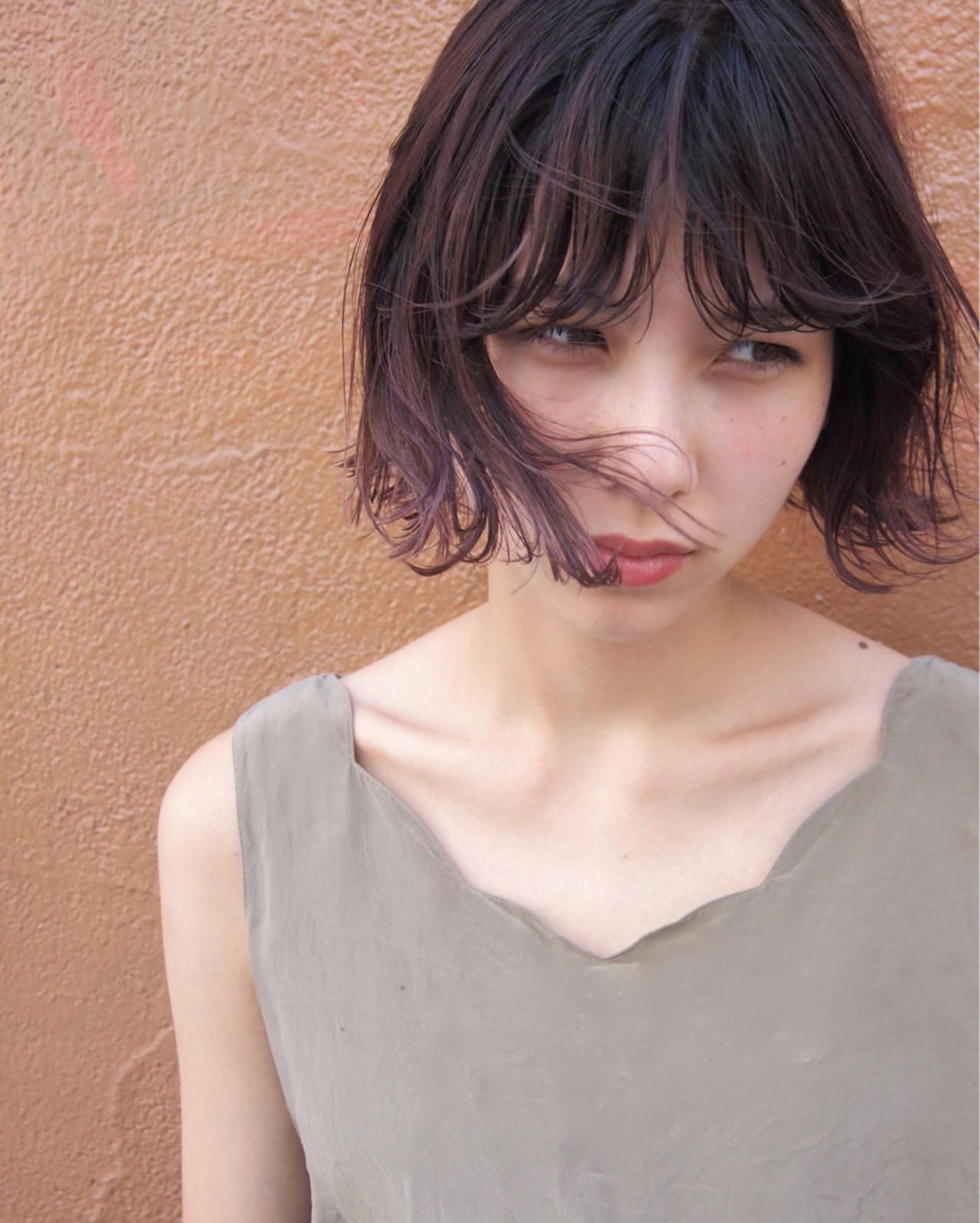 ニュアンス パーマ 大人女子 ボブ ヘアスタイルや髪型の写真・画像