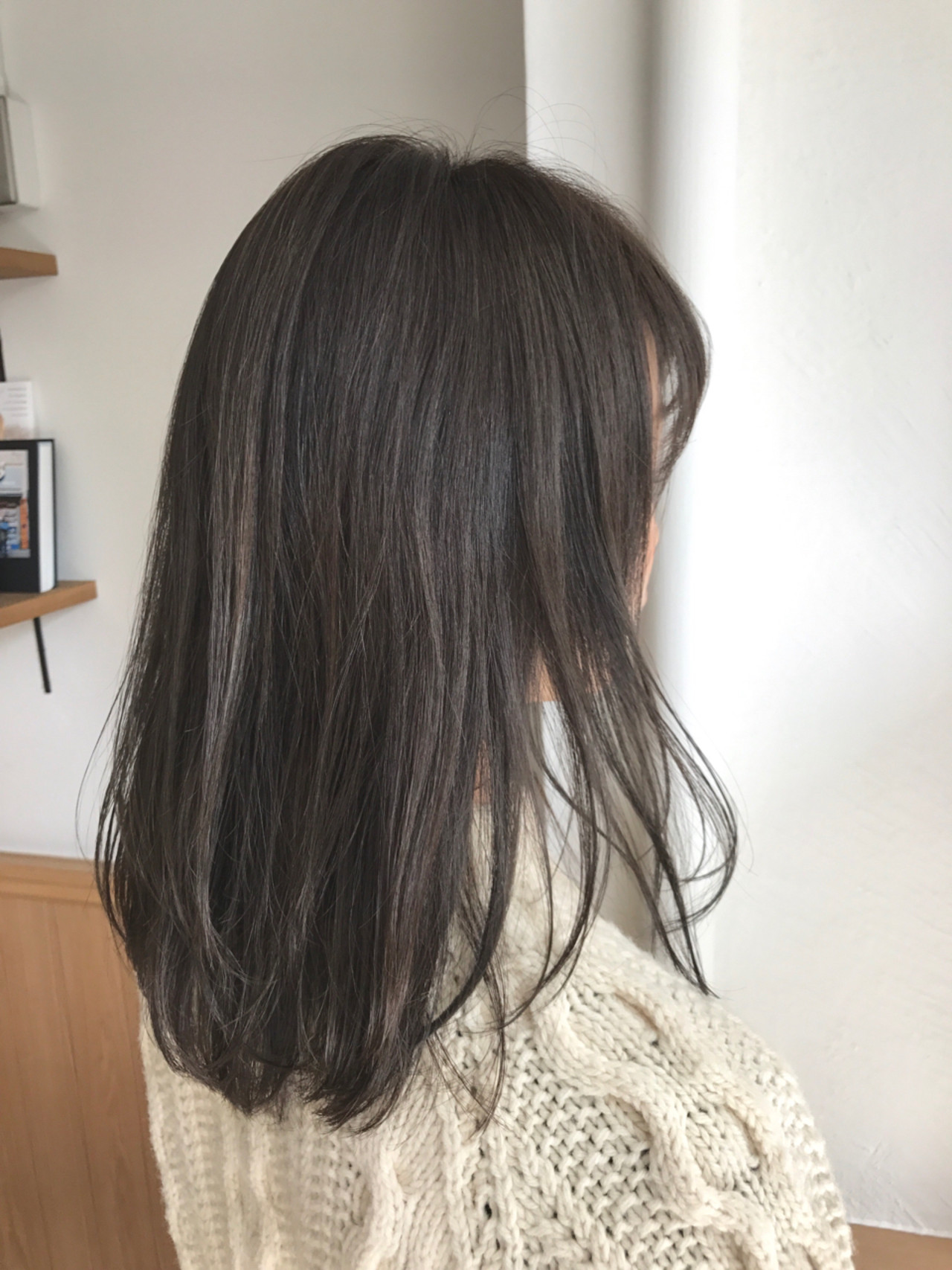 透明感 ナチュラル グレージュ ハイライト ヘアスタイルや髪型の写真・画像
