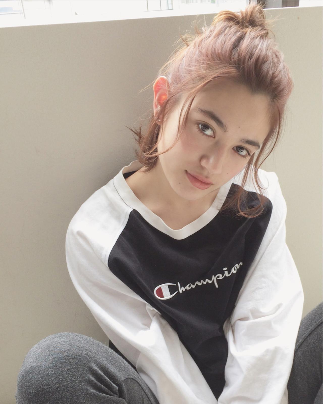 ナチュラル 外国人風 ミディアム ショート ヘアスタイルや髪型の写真・画像 | UEKI/nanuk / nanuk二子玉川