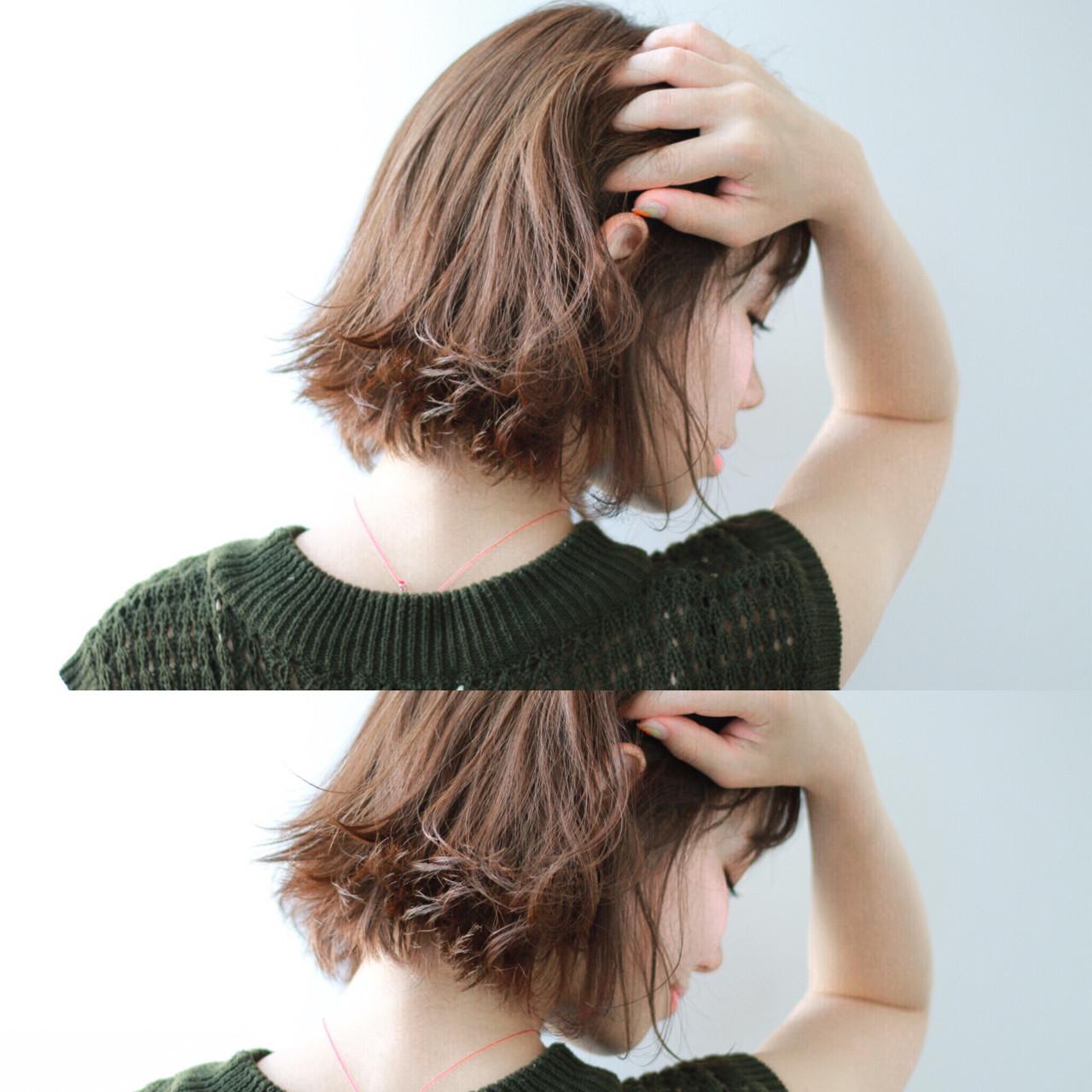 アッシュグレージュ アッシュブラウン ボブ グレージュ ヘアスタイルや髪型の写真・画像