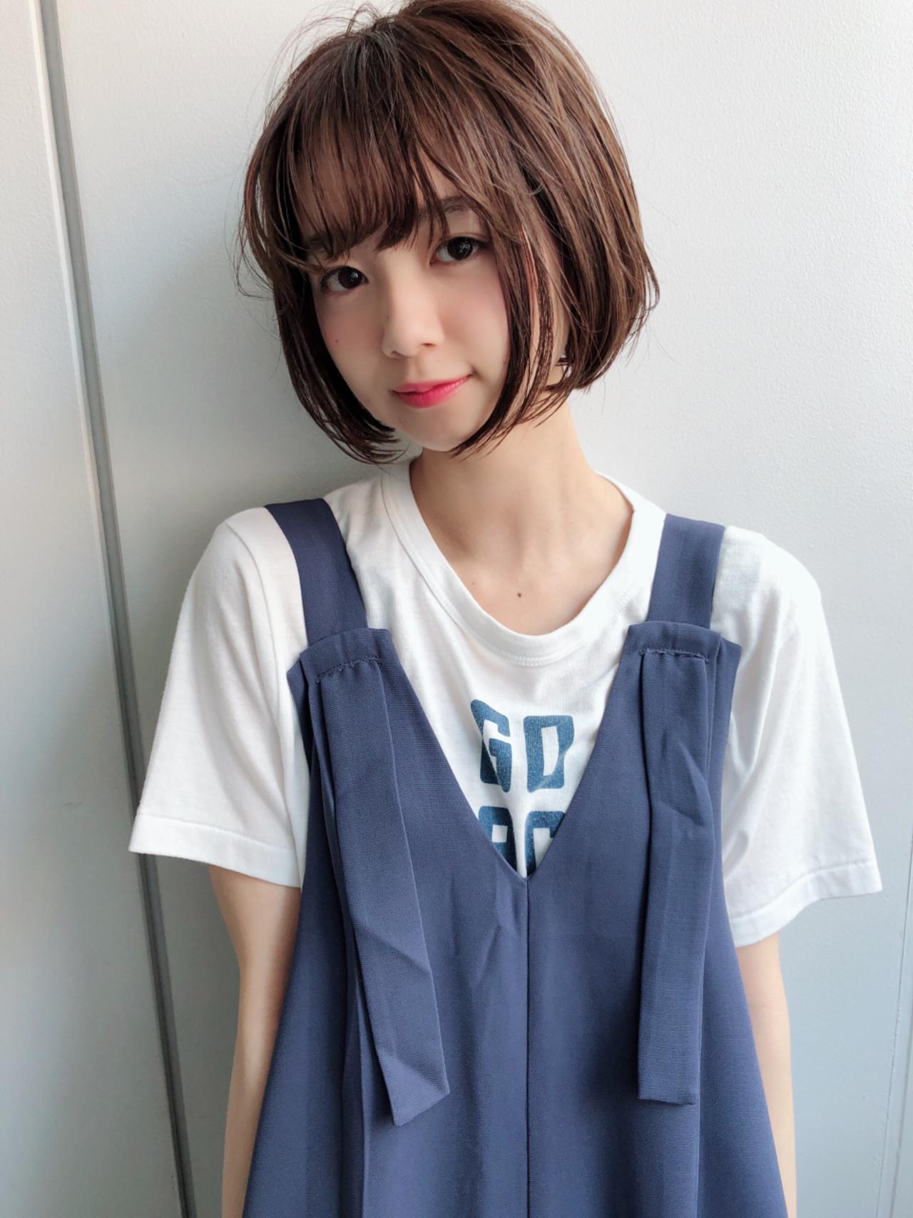 暗髪 オフィス 大人かわいい 透明感 ヘアスタイルや髪型の写真・画像   坂本一馬 / JUHL ユール