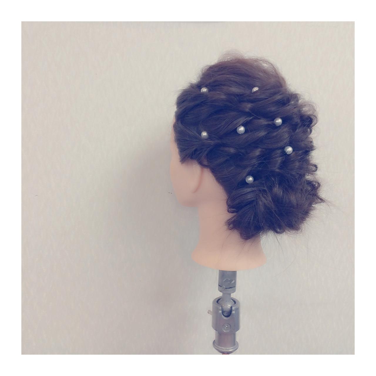 ショート フェミニン 簡単ヘアアレンジ 大人かわいい ヘアスタイルや髪型の写真・画像