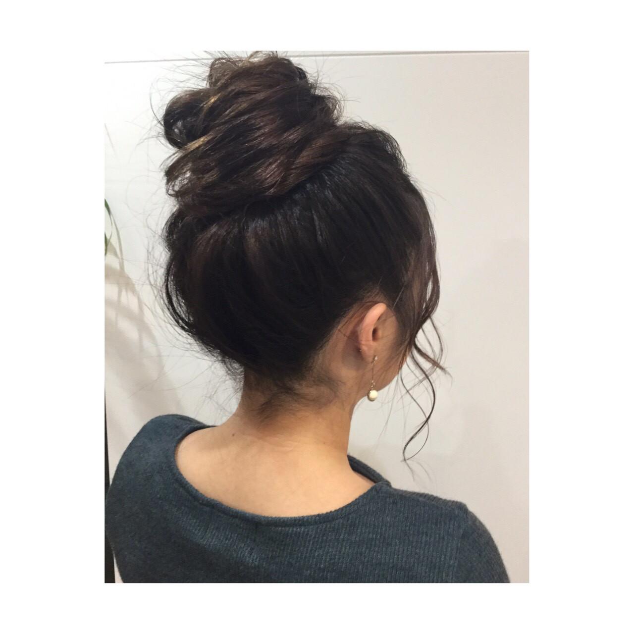 ヘアアレンジ ナチュラル 簡単ヘアアレンジ オフィス ヘアスタイルや髪型の写真・画像   ayano ura / hairmakeFULL