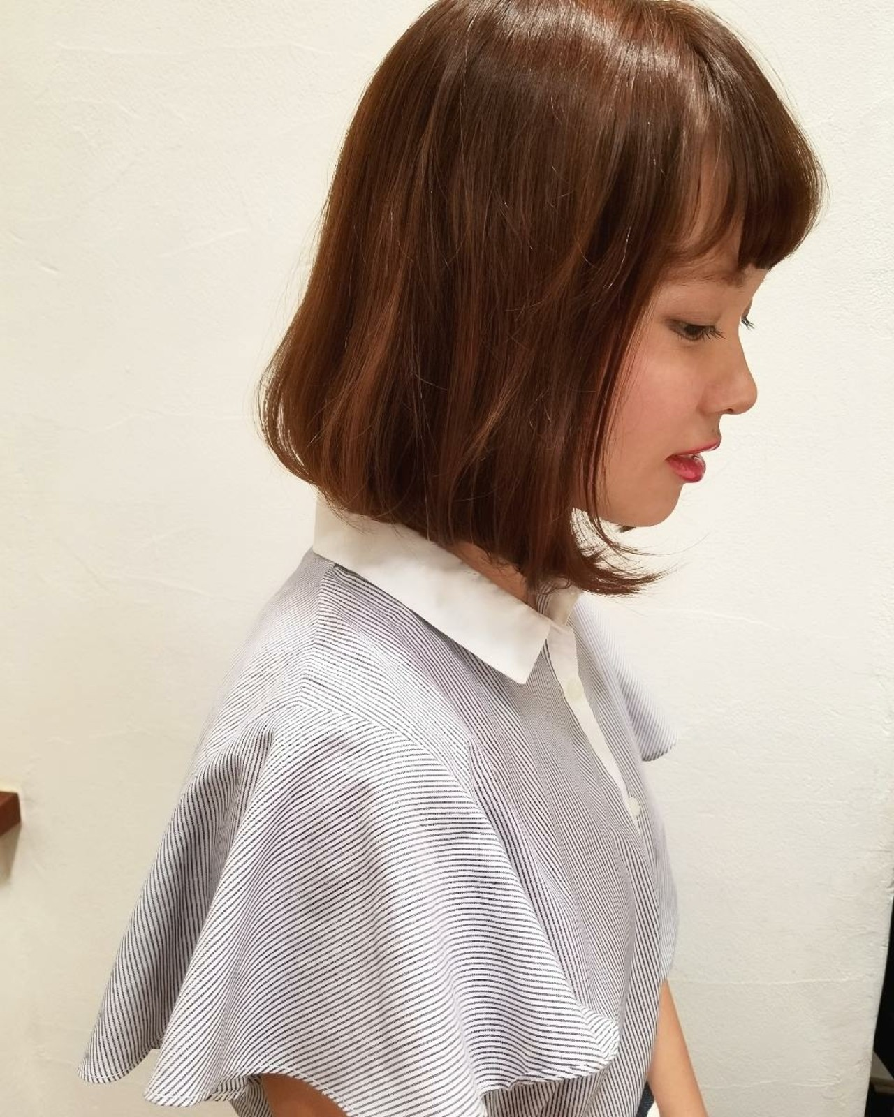透明感 かわいい リラックス オフィス ヘアスタイルや髪型の写真・画像