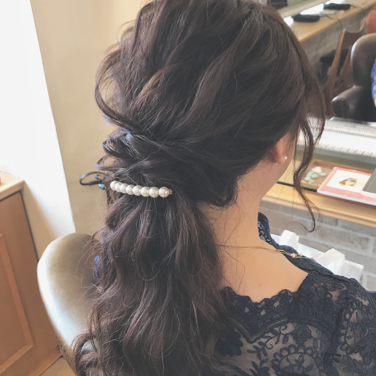 簡単ヘアアレンジ 結婚式 デート フェミニン ヘアスタイルや髪型の写真・画像 | ヤマキタ トシキ Neolive / Neolive CiroL.