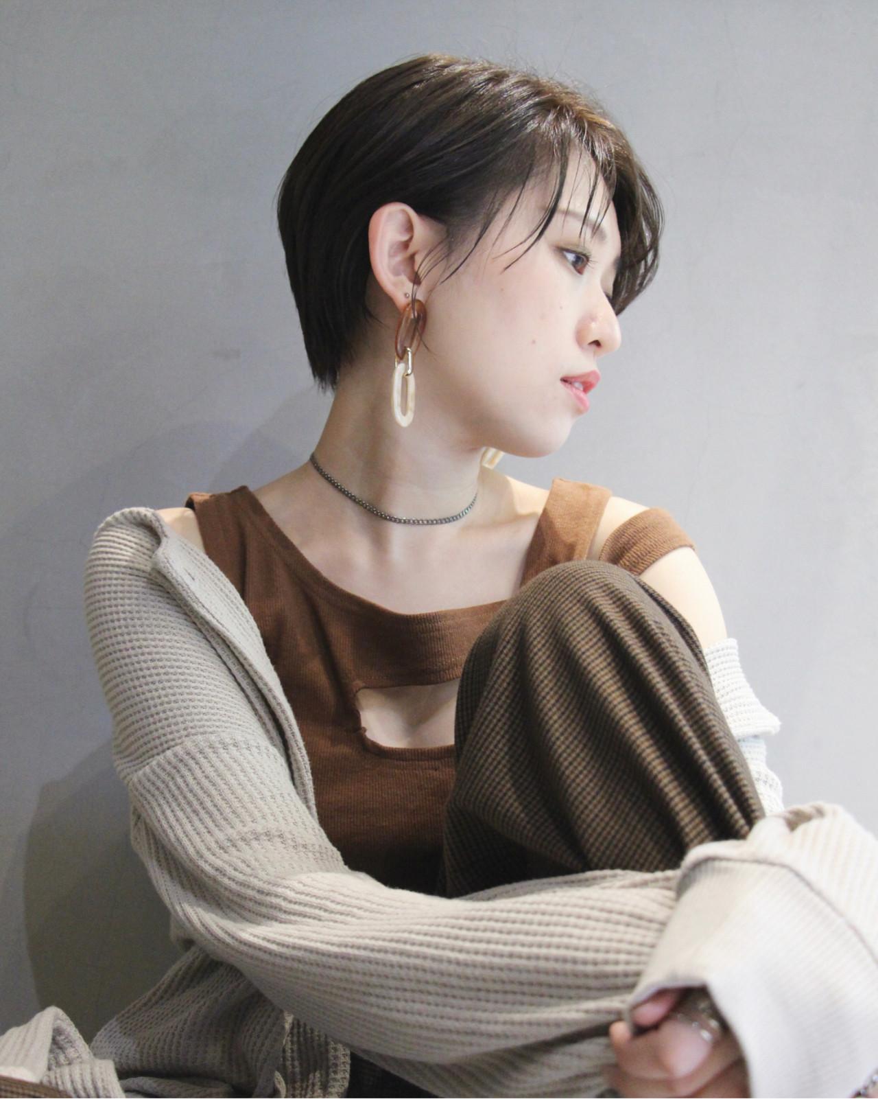 oggiotto ミルクティーグレージュ ナチュラル ショート ヘアスタイルや髪型の写真・画像
