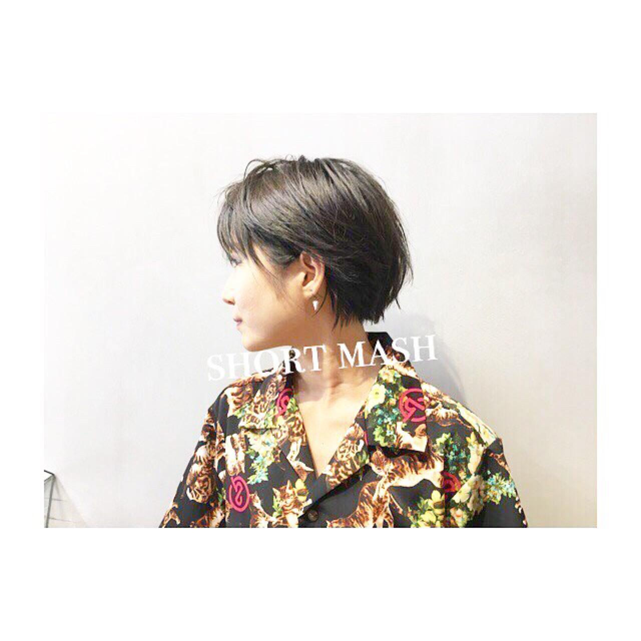 ショート ナチュラル 前髪あり アウトドア ヘアスタイルや髪型の写真・画像