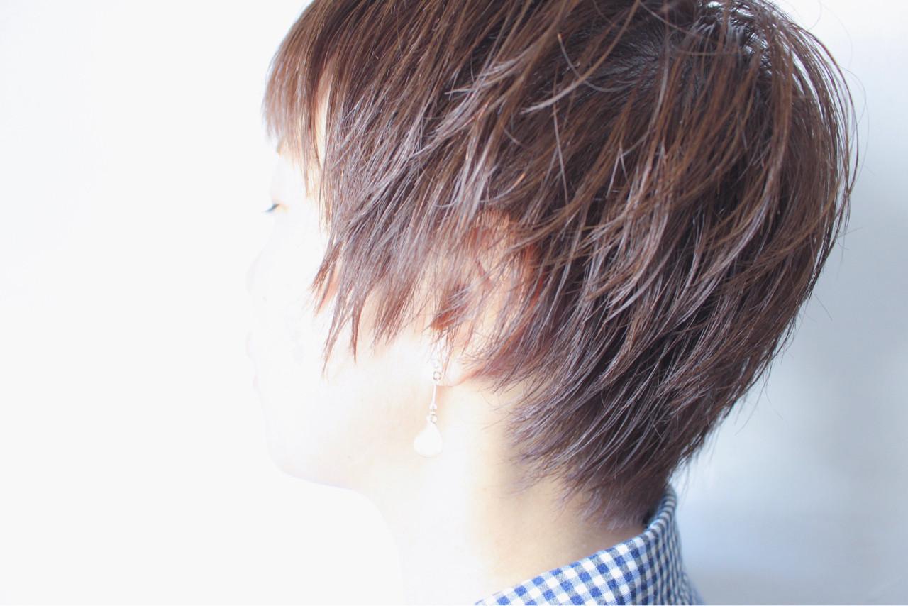 ショートボブ 大人女子 ショート マッシュ ヘアスタイルや髪型の写真・画像 | creap / creap