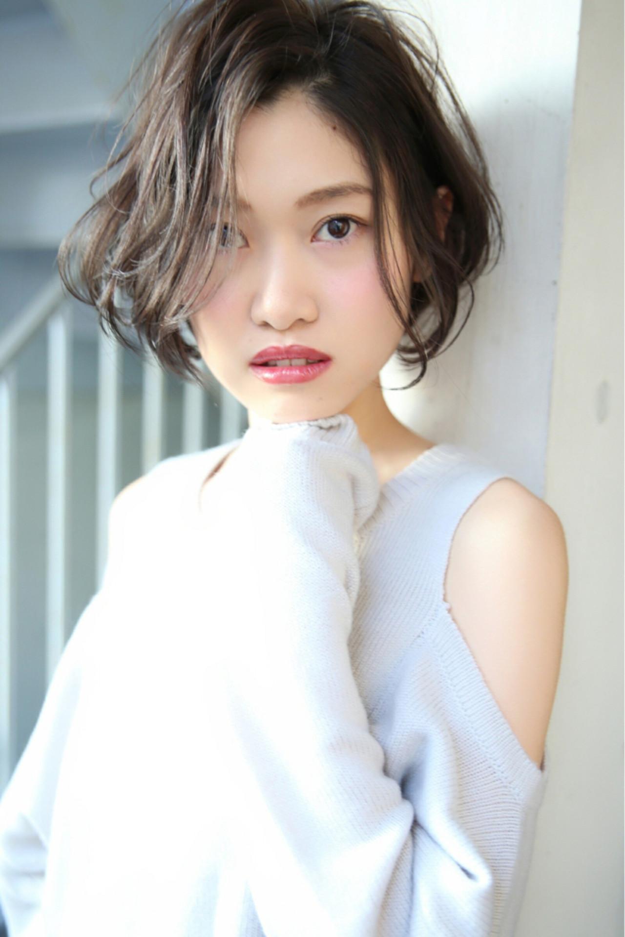ナチュラル 大人かわいい ショート デート ヘアスタイルや髪型の写真・画像 | reina /