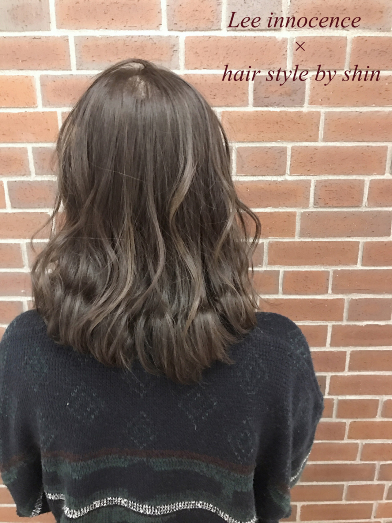 ナチュラル ミルクティー 色気 ボブ ヘアスタイルや髪型の写真・画像 | Lee innocence 宮本伸一(shin) / Lee innocence 西宮北口店