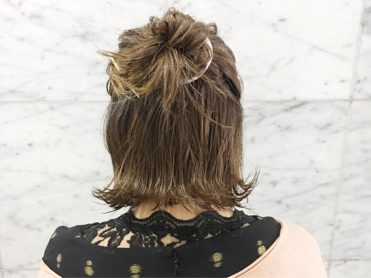 ヘアアレンジ アウトドア お団子 スポーツ ヘアスタイルや髪型の写真・画像