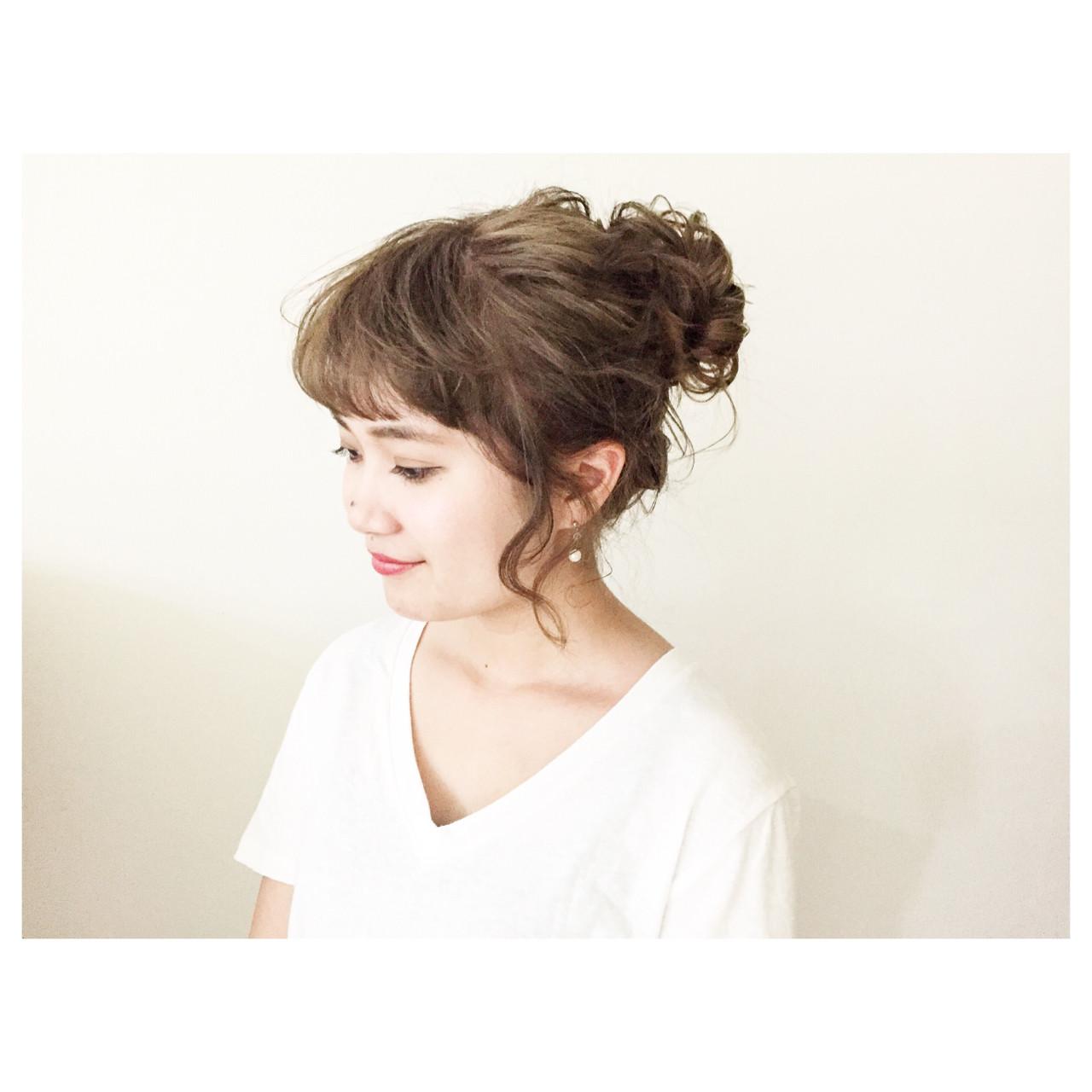 ルーズ ゆるふわ ヘアアレンジ 夏 ヘアスタイルや髪型の写真・画像 | 竹原あやか / Rosetea Garden plus