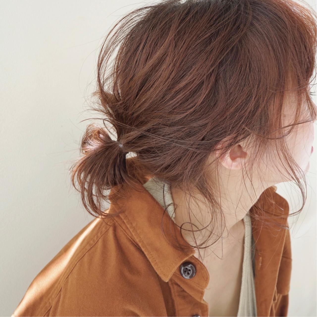アプリコットオレンジ ミディアム オレンジベージュ ナチュラル ヘアスタイルや髪型の写真・画像 | 花井啓好 / mateca hairマテカヘアー