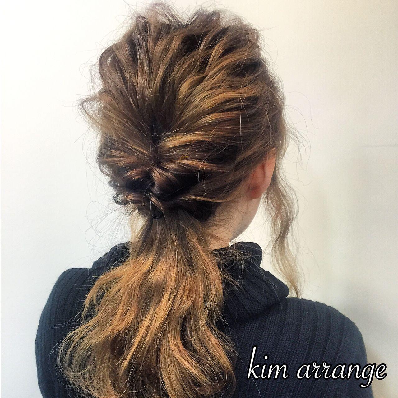 ポニーテール ヘアアレンジ 簡単ヘアアレンジ 愛され ヘアスタイルや髪型の写真・画像