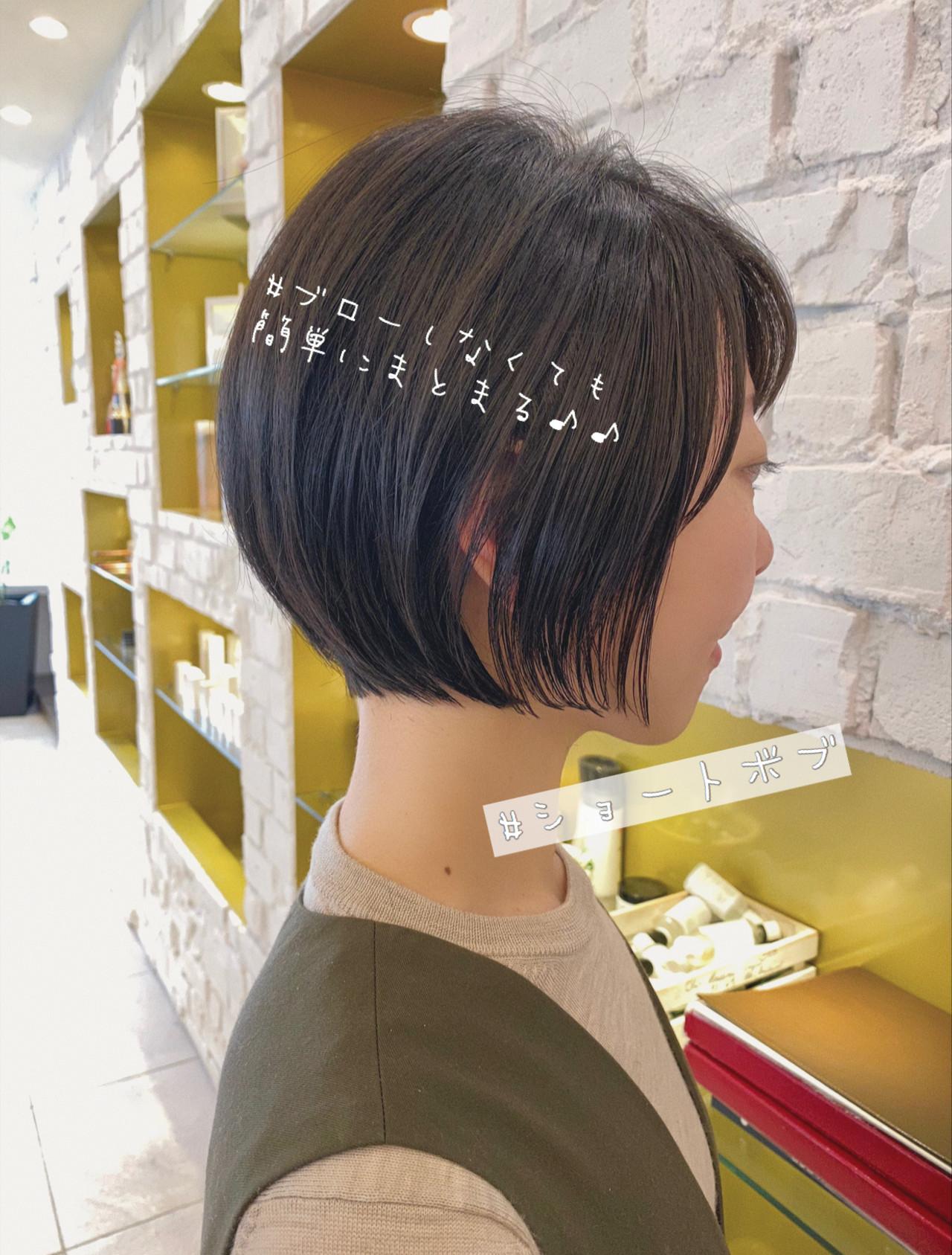ショート 丸みショート ナチュラル デート ヘアスタイルや髪型の写真・画像 | 石川有里彩 / リュドール栄