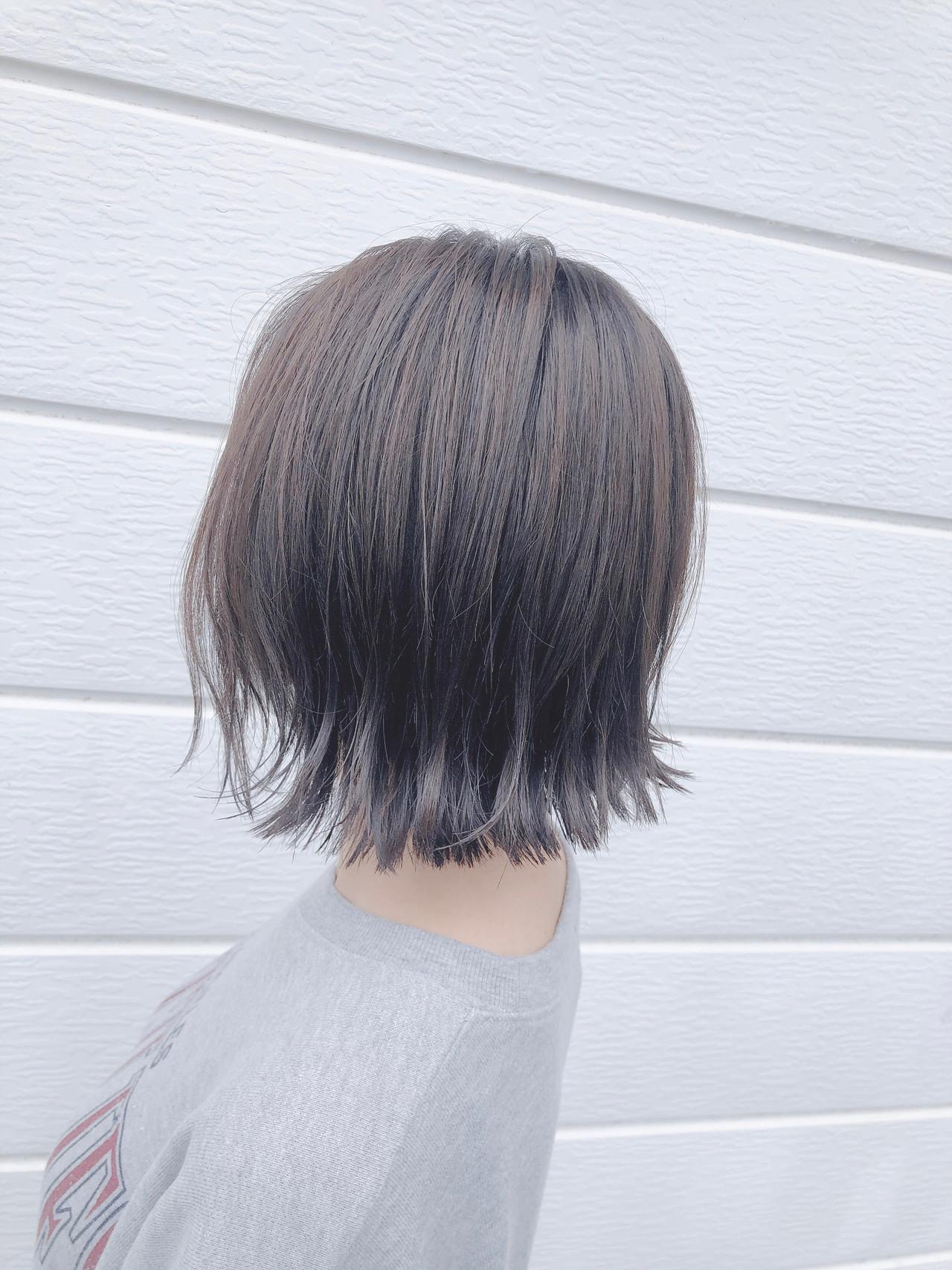 ヘアアレンジ ボブ ナチュラル アッシュグレージュ ヘアスタイルや髪型の写真・画像